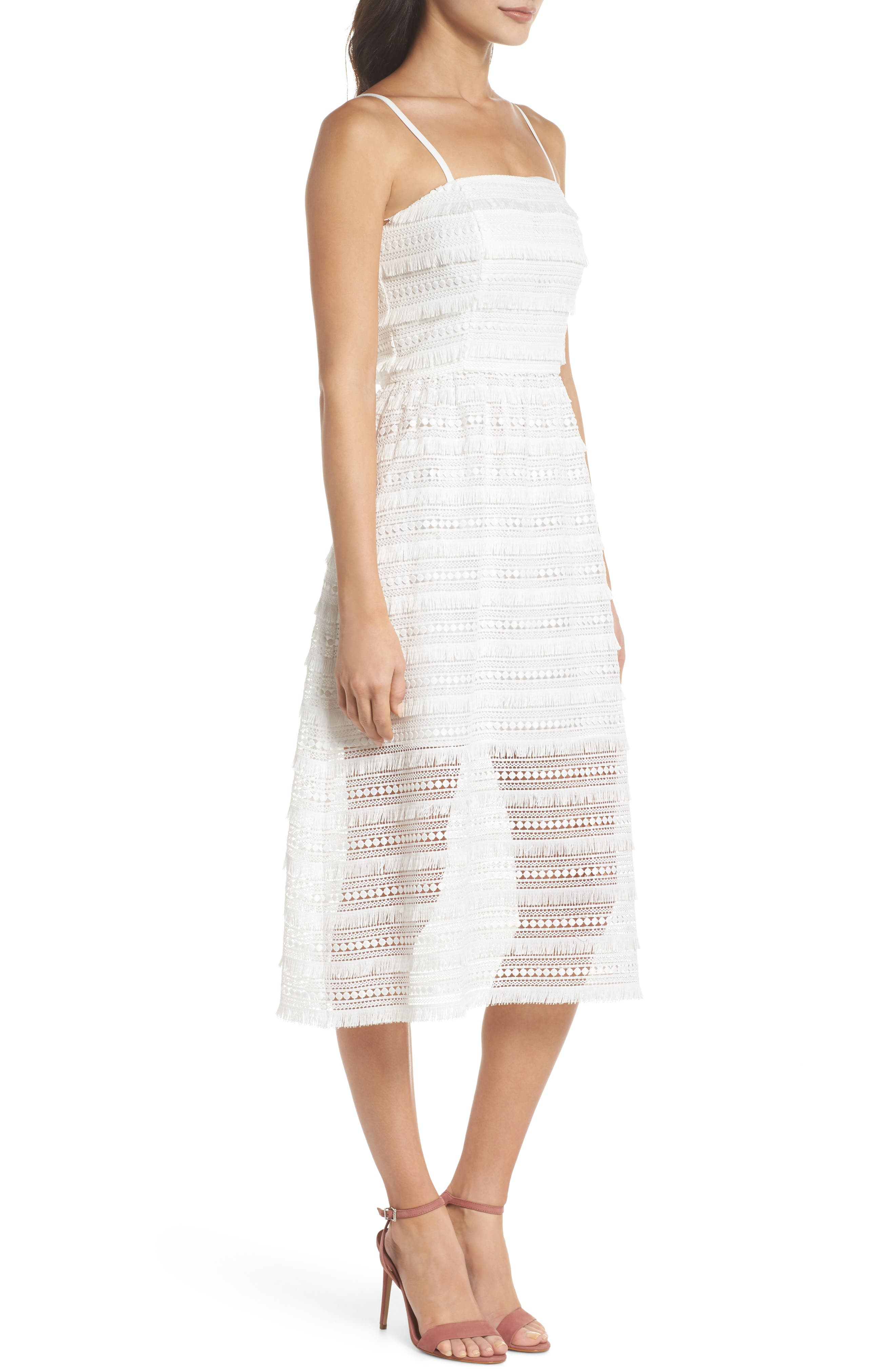 Maybe Mozza Midi Sundress,                             Alternate thumbnail 3, color,                             White