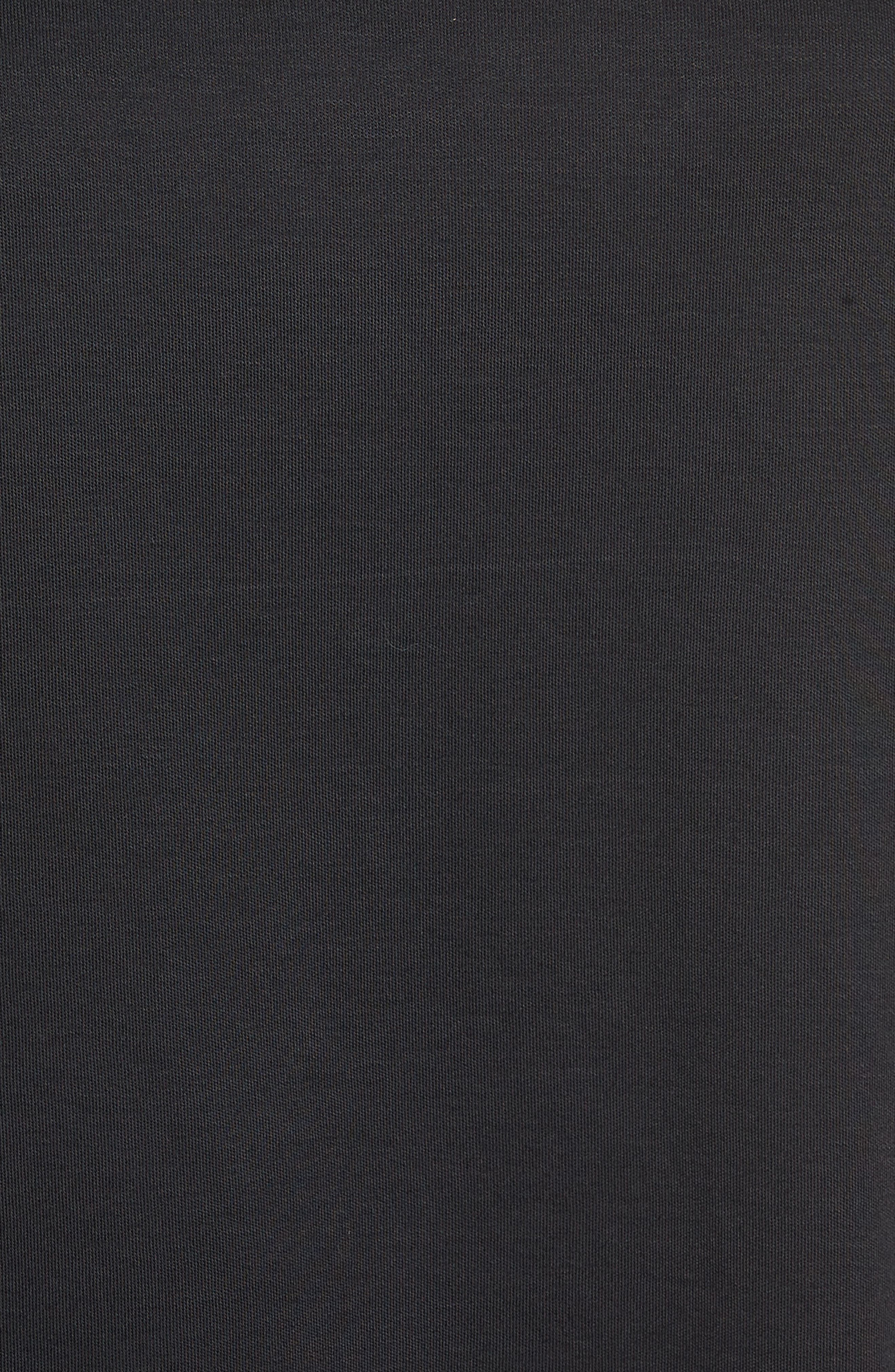 Flutter Sleeve Cotton Knit Top,                             Alternate thumbnail 5, color,                             Black