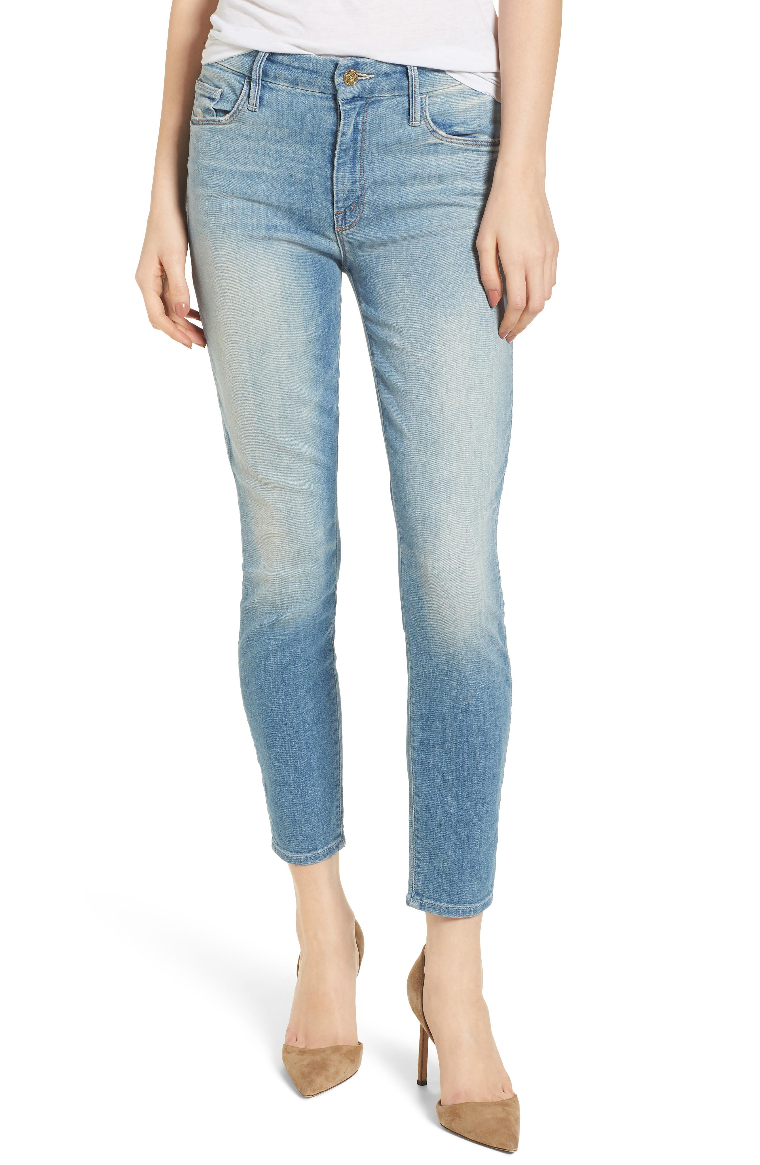 The Looker Crop Skinny Jeans,                             Main thumbnail 1, color,                             Shake Well