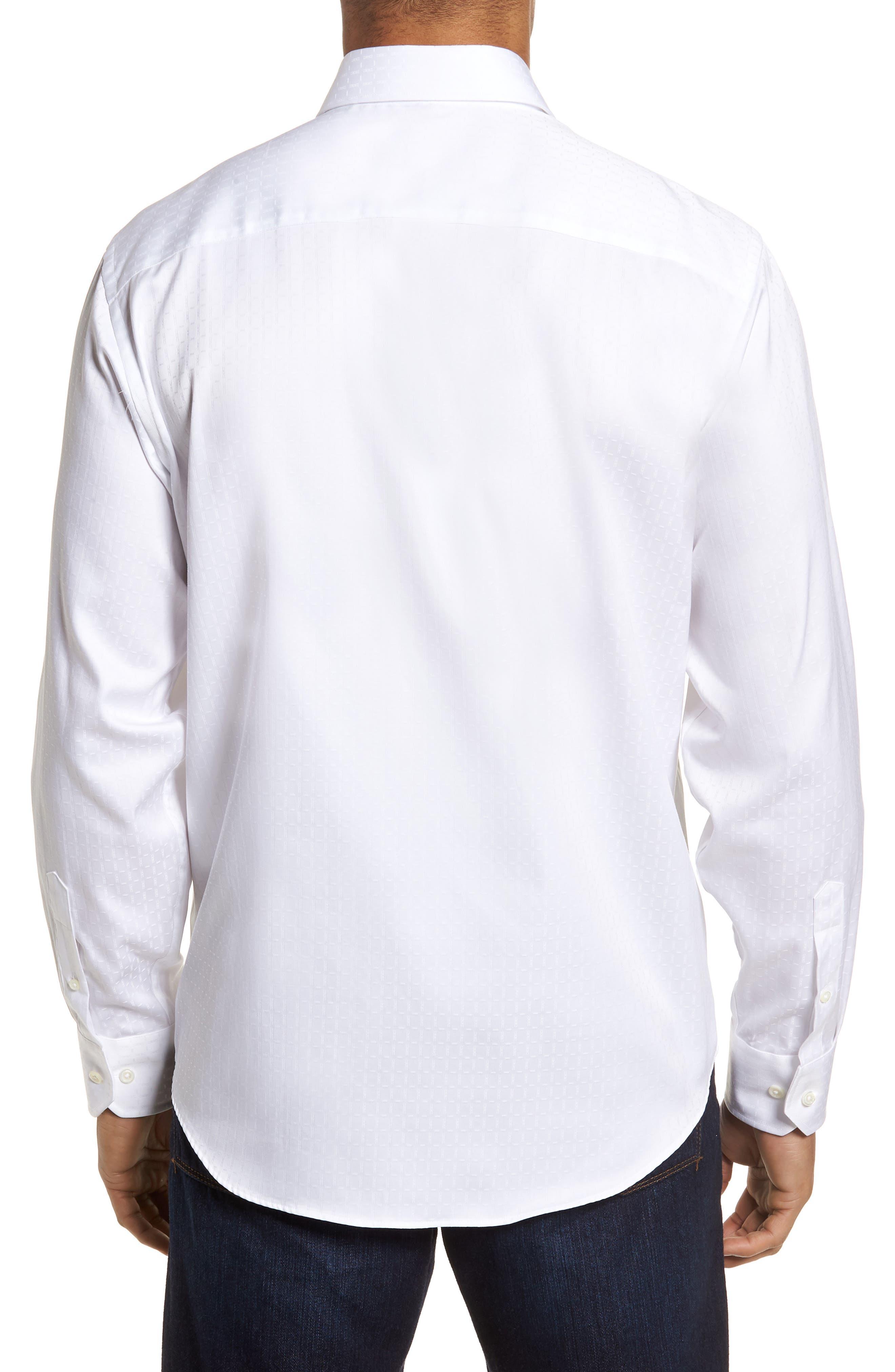 Classic Fit Woven Sport Shirt,                             Alternate thumbnail 2, color,                             White