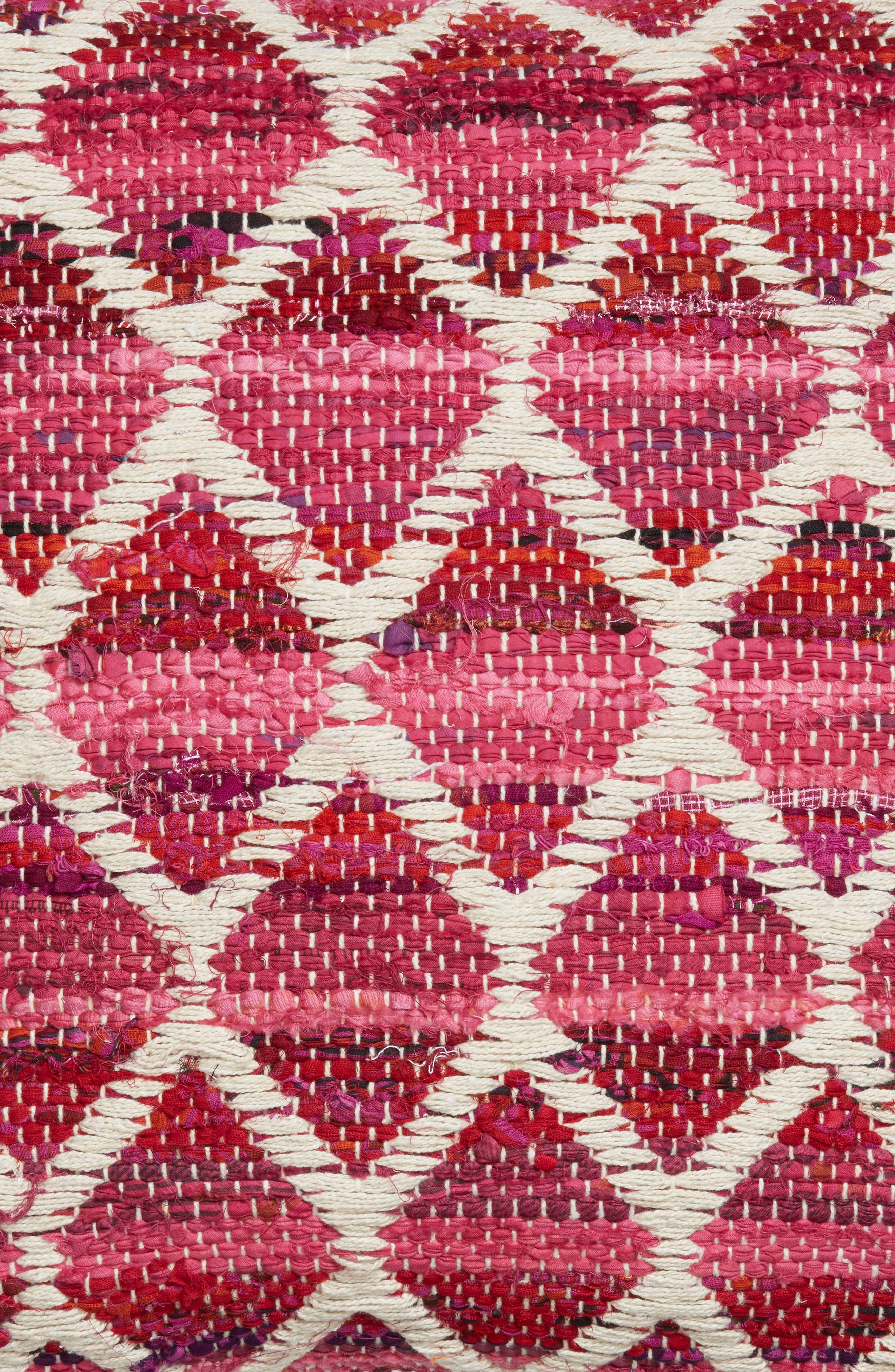 Diamond Chindi Accent Pillow,                             Alternate thumbnail 3, color,                             Hot Pink