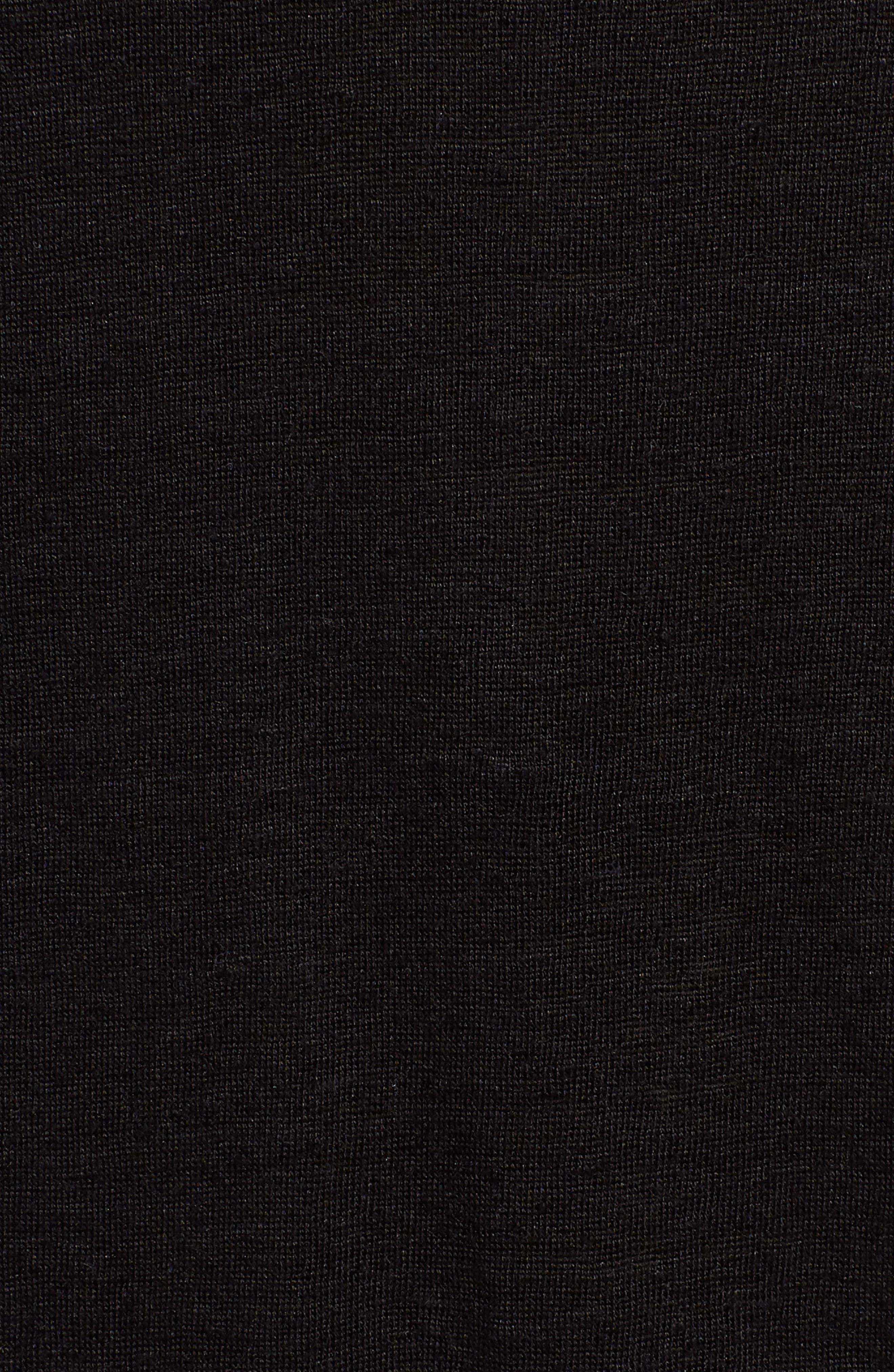 Strappy Organic Linen Tank,                             Alternate thumbnail 6, color,                             Black