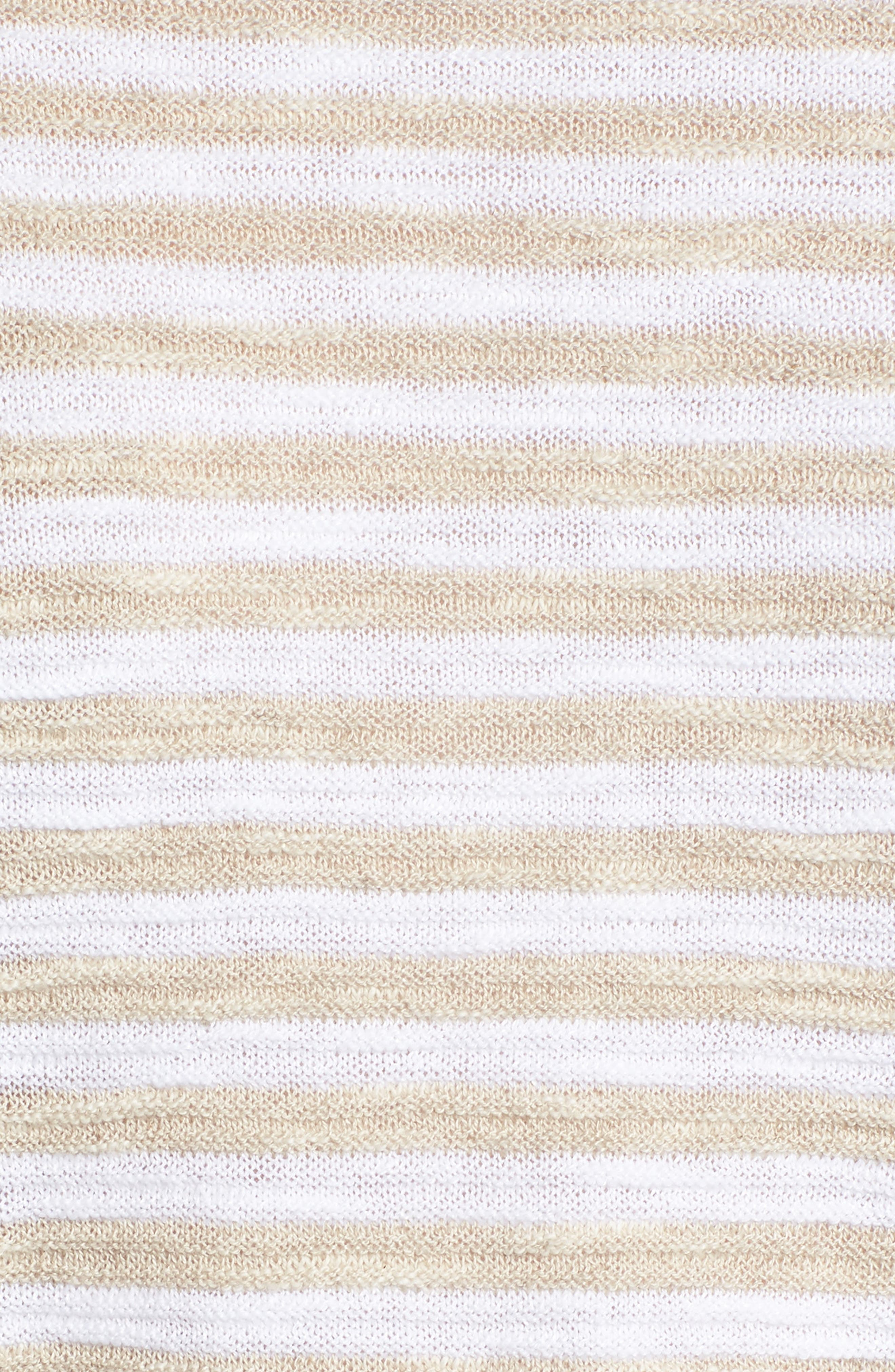 Stripe Organic Linen & Cotton Sweater,                             Alternate thumbnail 6, color,                             White/ Natural