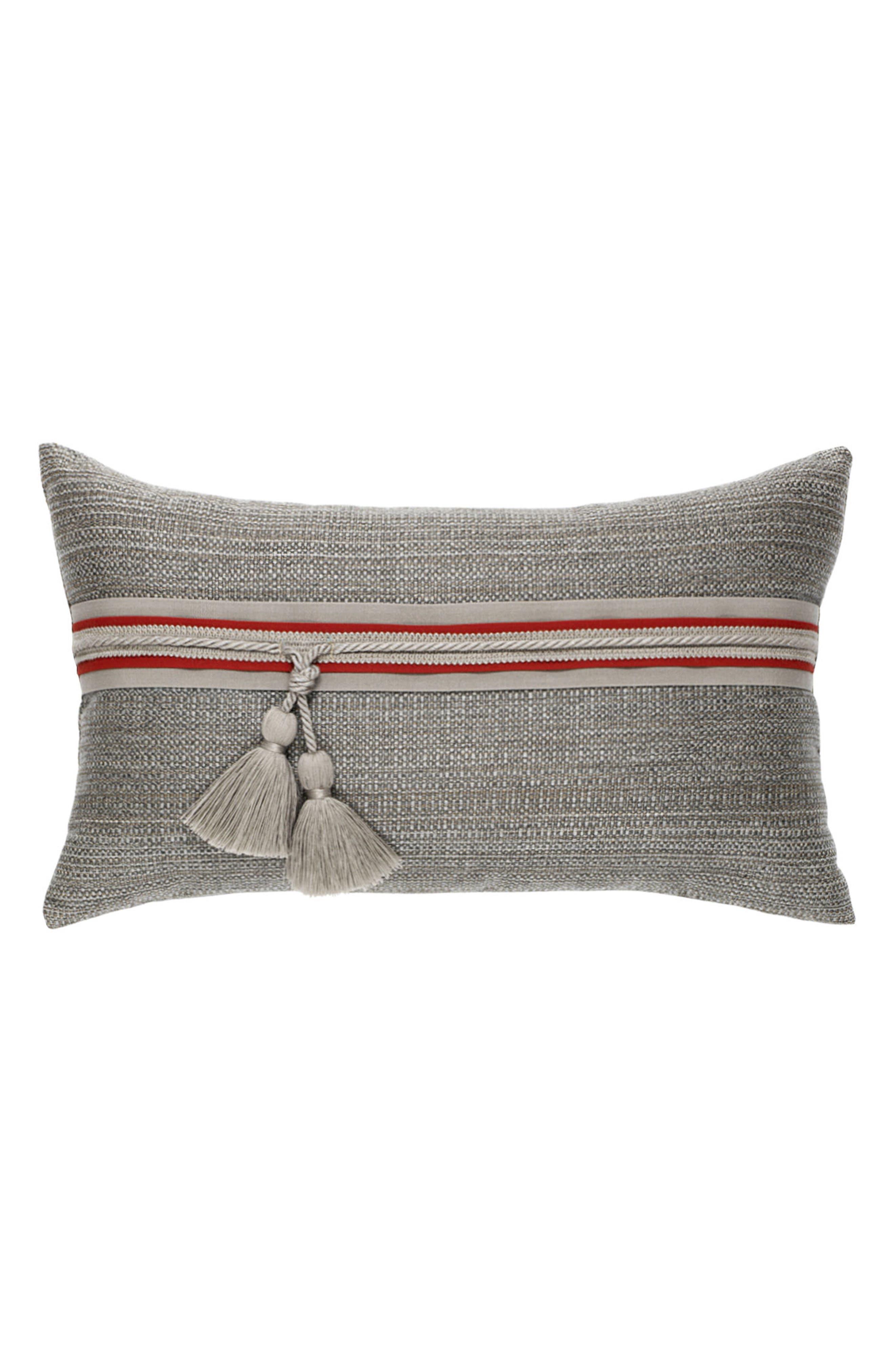 Elaine Smith Textured Smoke Lumbar Pillow
