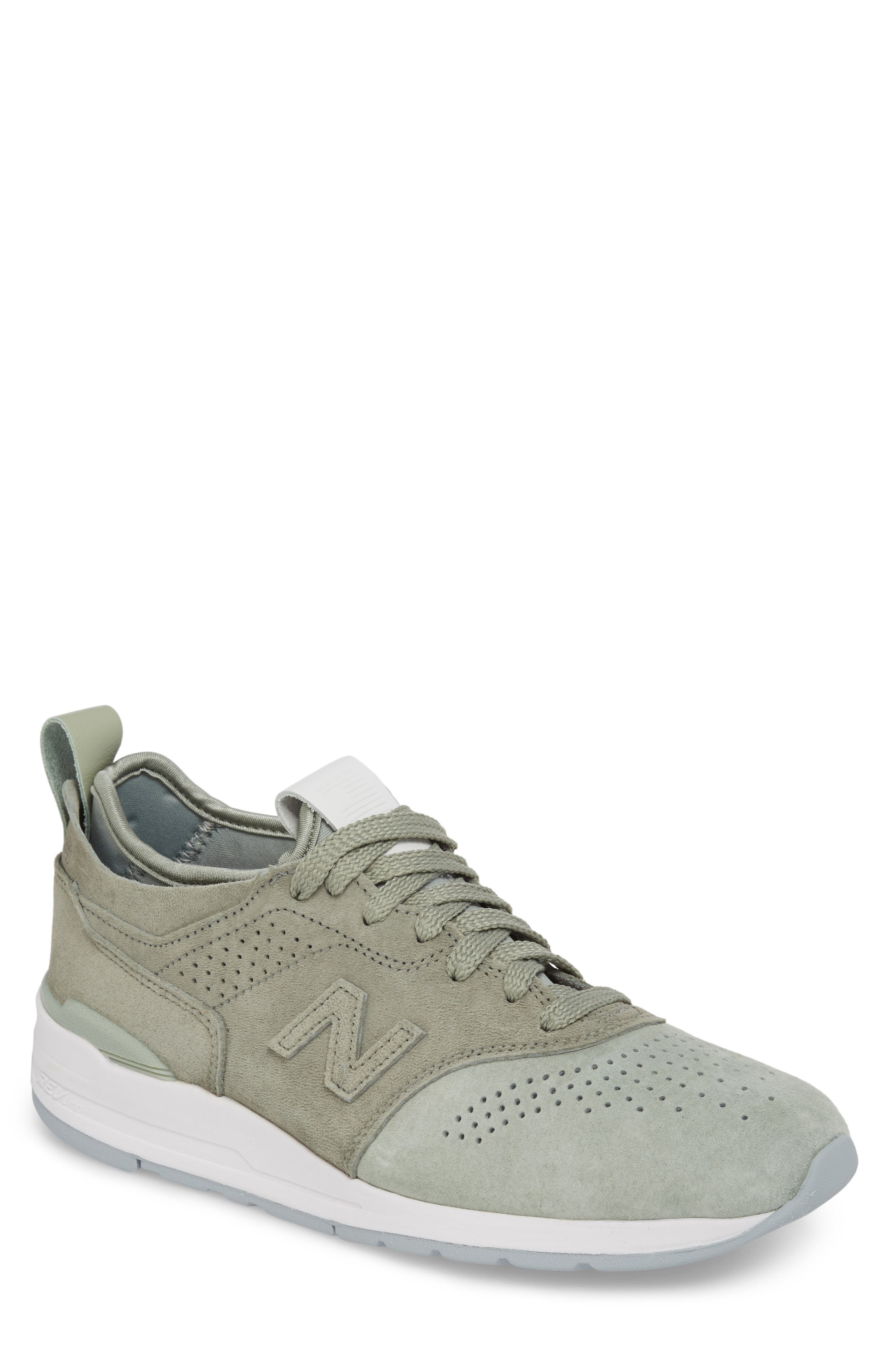 997R Perforated Sneaker,                             Main thumbnail 1, color,                             Silver Mint