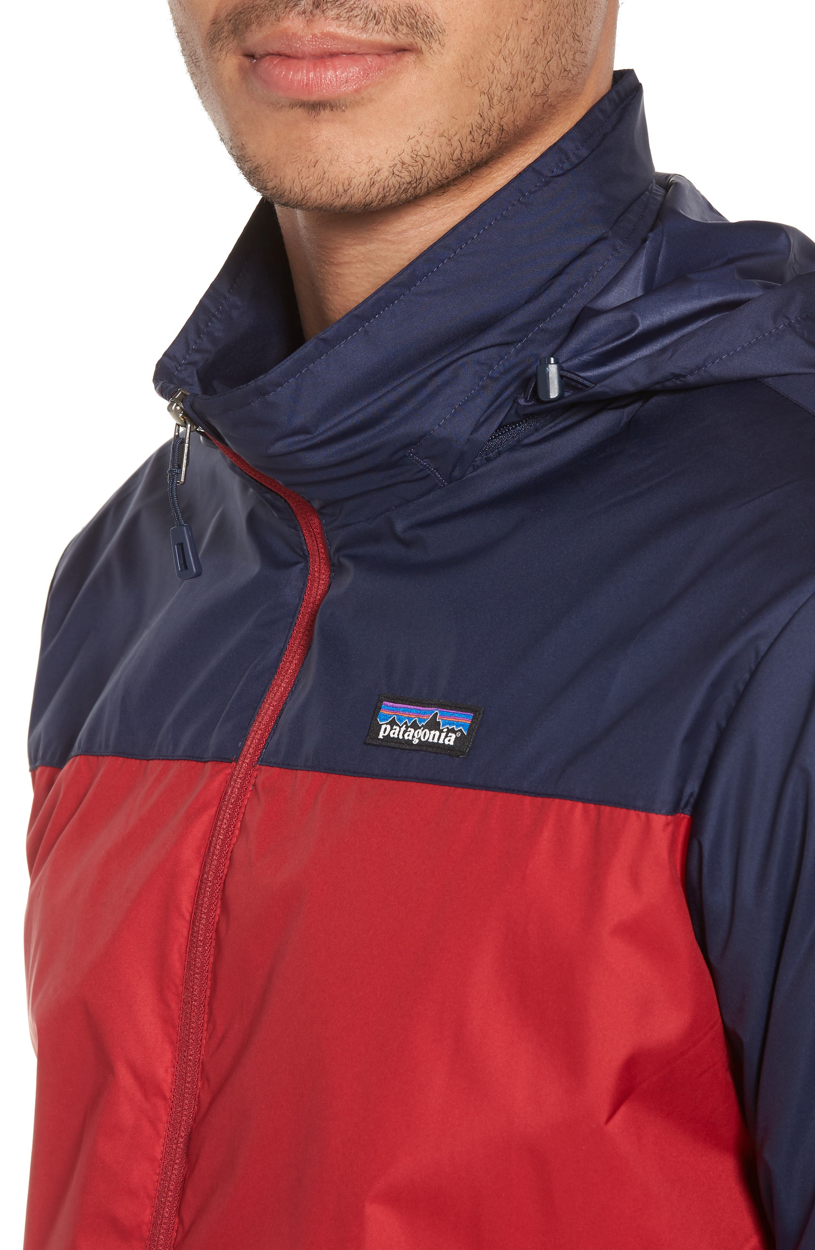 Light & Variable<sup>™</sup> Wind & Water Resistant Hooded Jacket,                             Alternate thumbnail 4, color,                             Classic Red