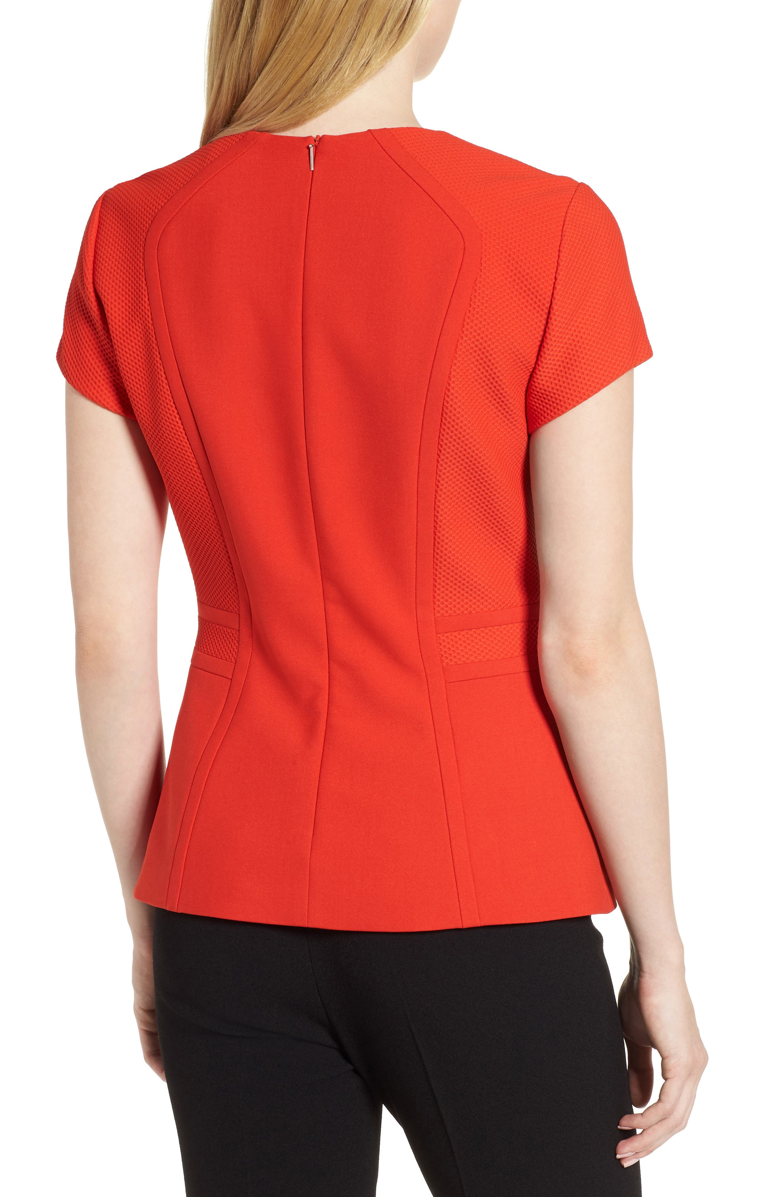 Idama Ponte Top,                             Alternate thumbnail 2, color,                             Sunset Orange