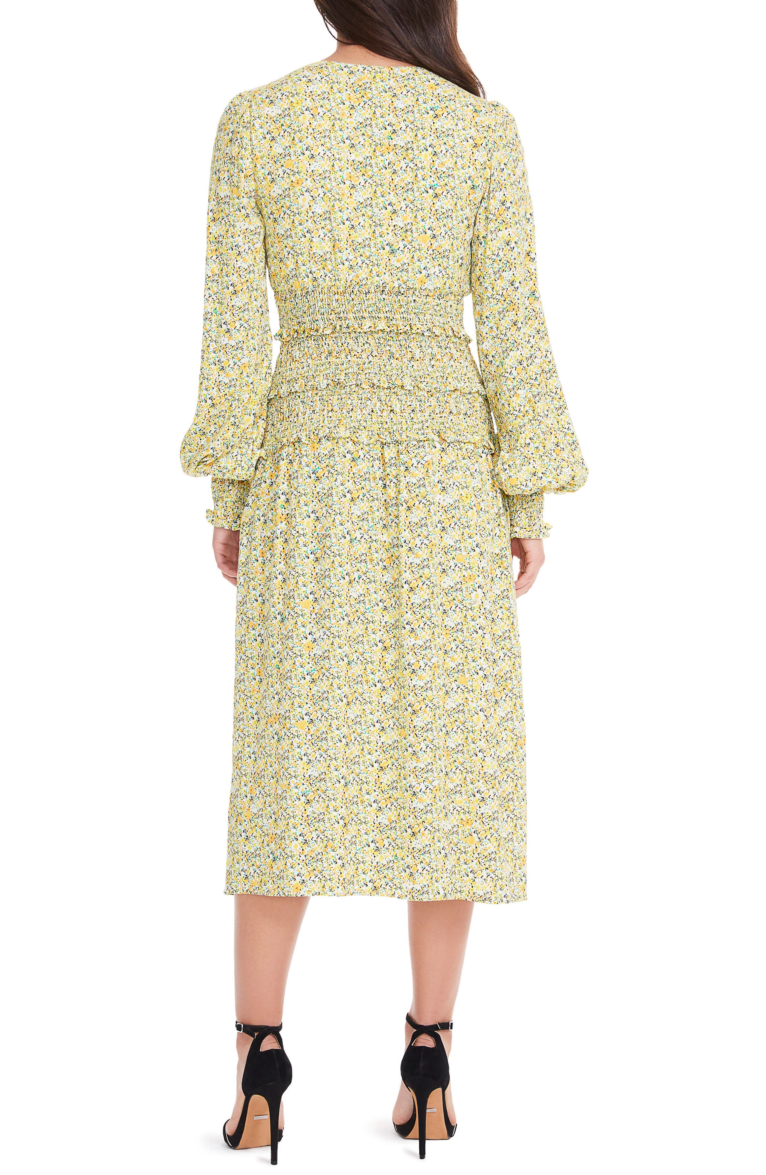 Alternate Image 2  - AFRM Hazel Smocked Midi Dress