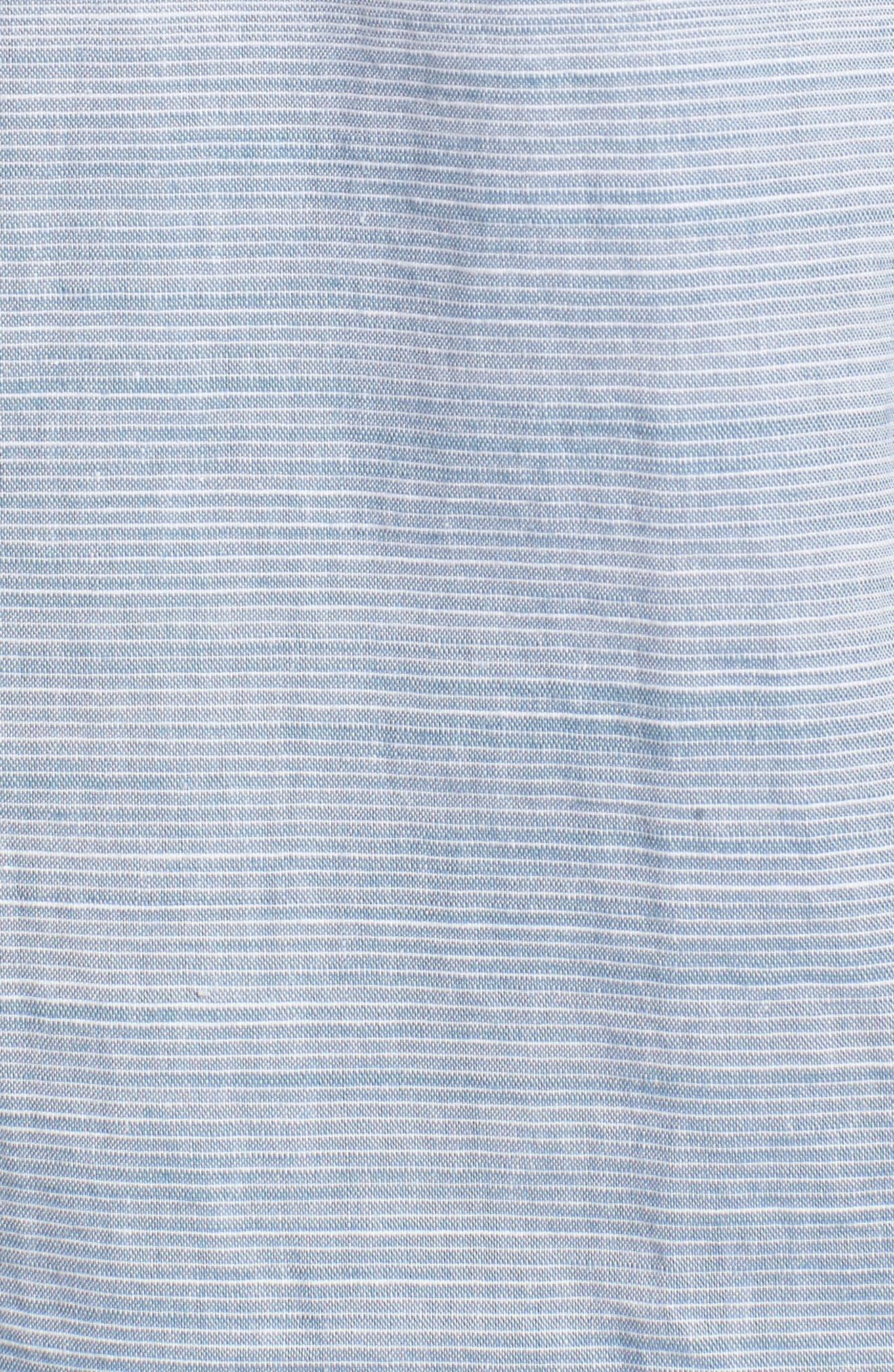 Hudson Woven Shirt,                             Alternate thumbnail 5, color,                             Noise Aqua