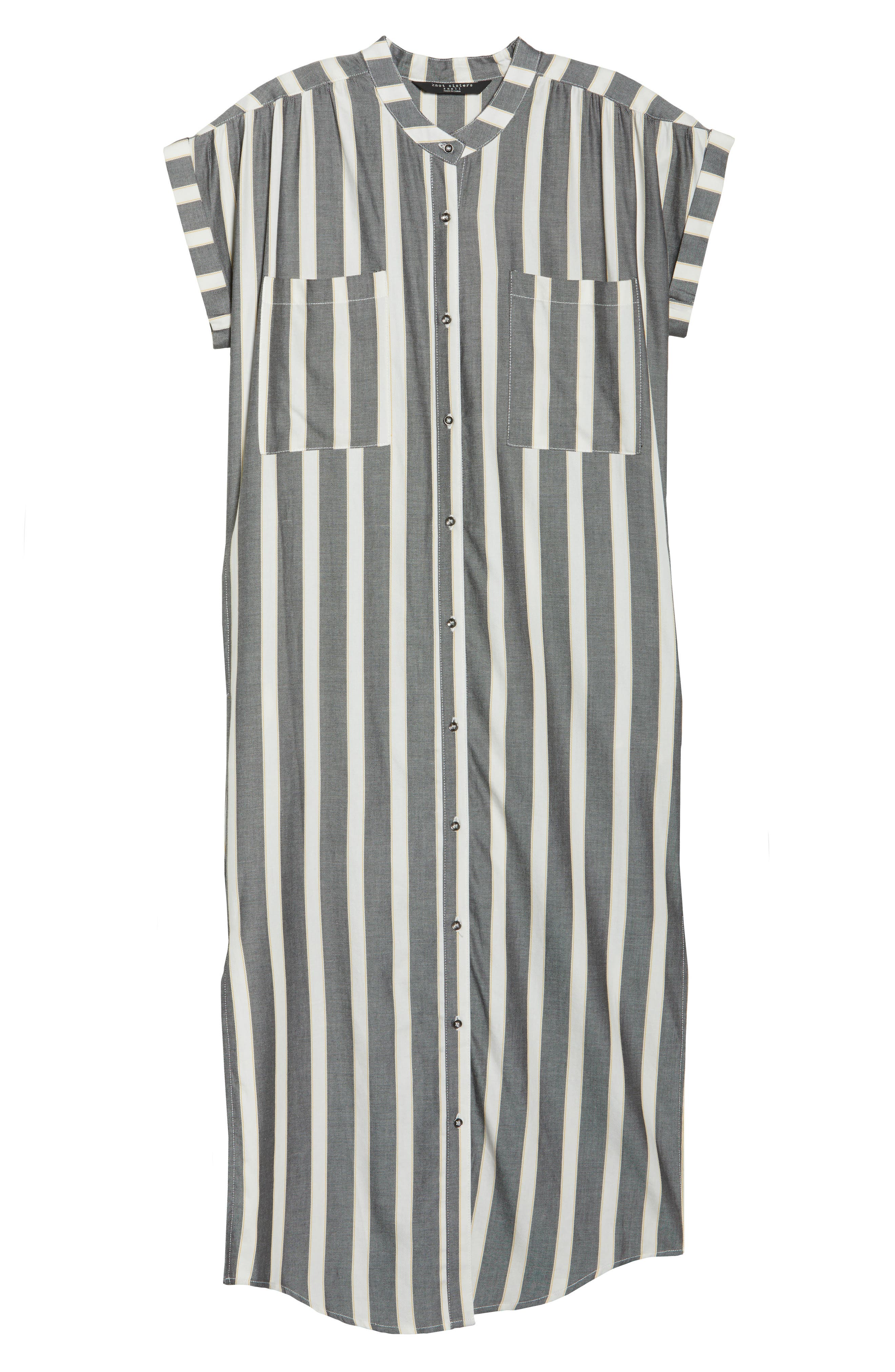 Haze Shirtdress,                             Alternate thumbnail 7, color,                             Black With Cream Stripe