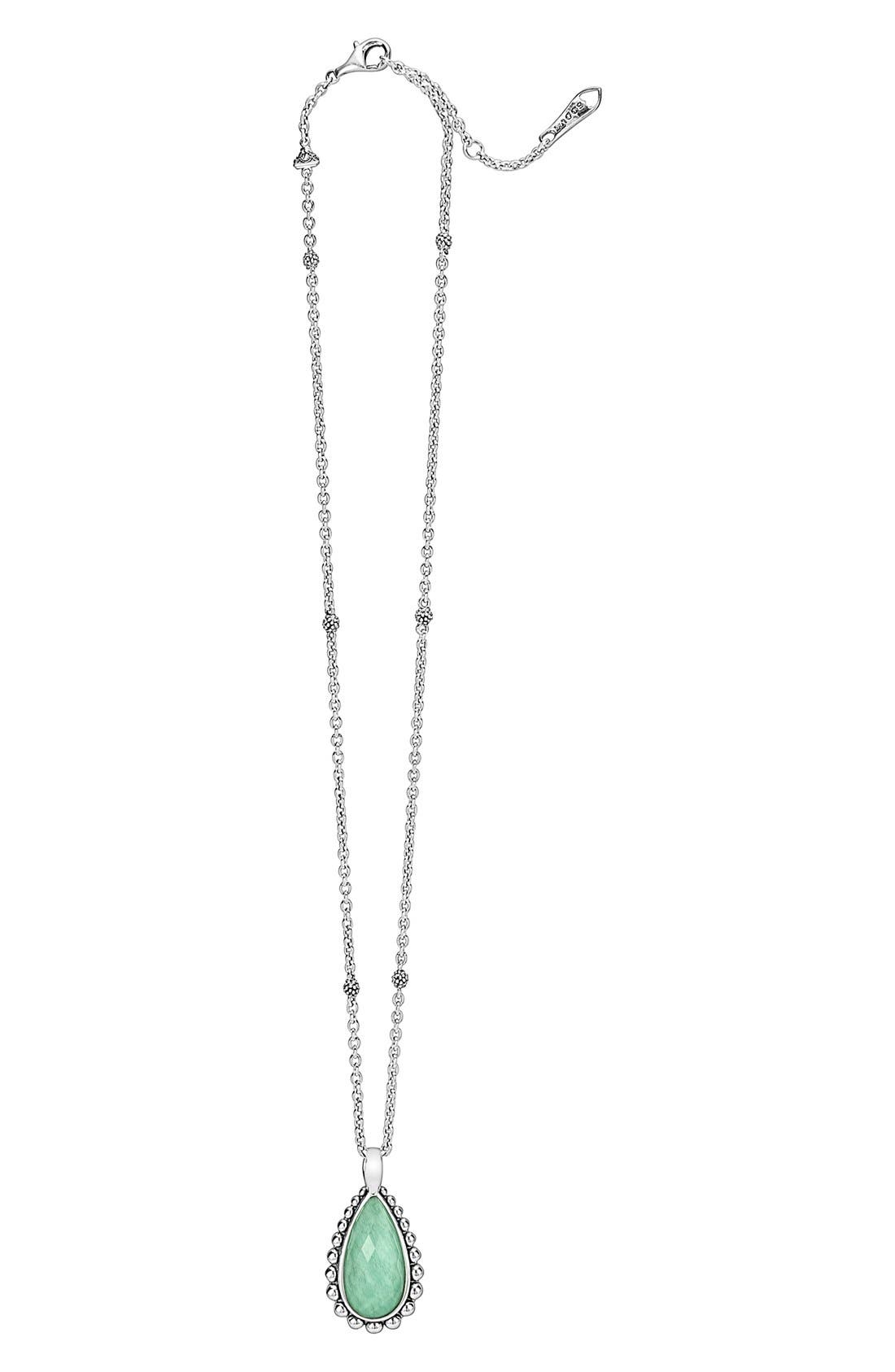 LAGOS 'Maya' Teardrop Pendant Necklace