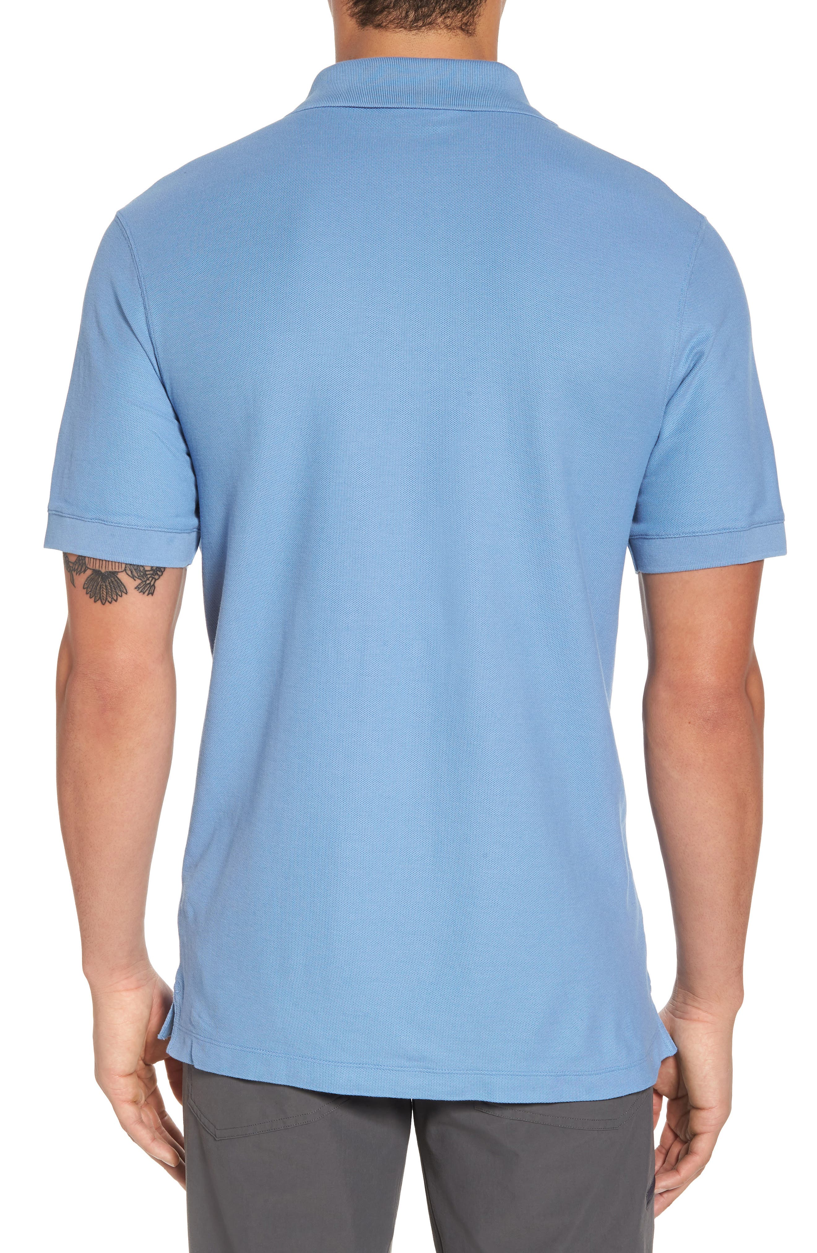 Belwe Relaxed Fit Piqué Polo,                             Alternate thumbnail 2, color,                             Railroad Blue