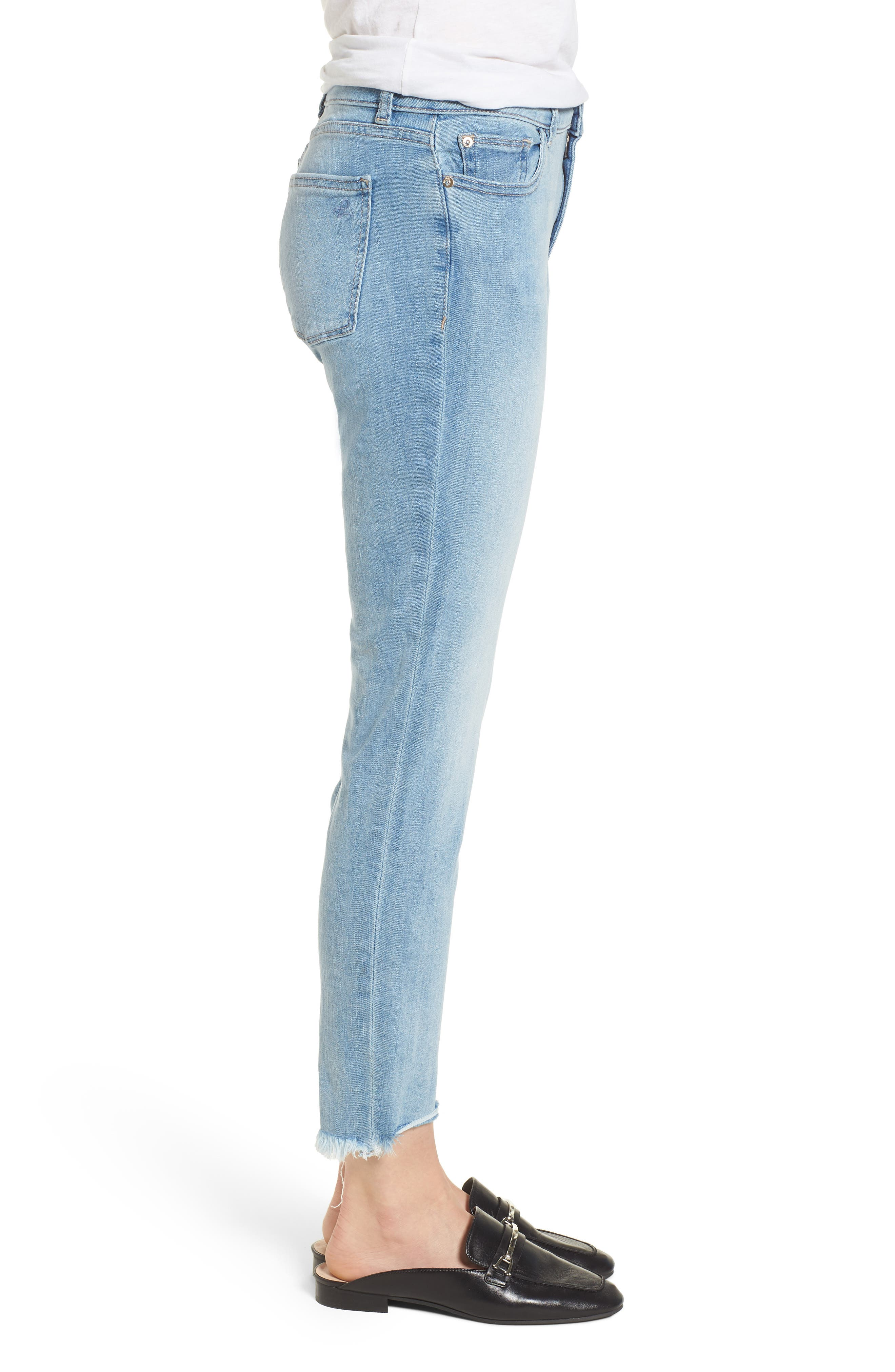 Coco Curvy Ankle Skinny Jeans,                             Alternate thumbnail 3, color,                             Kelso
