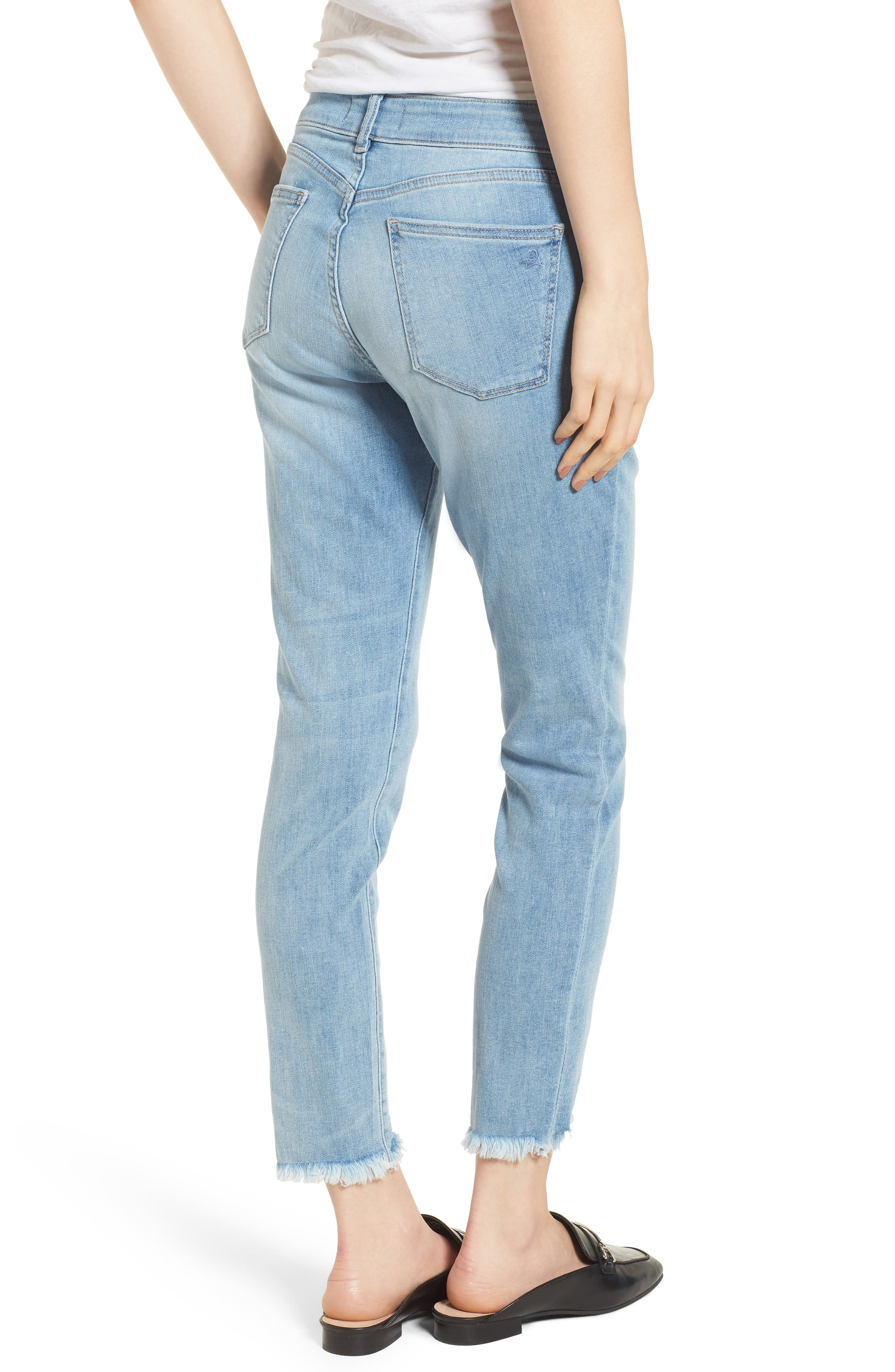 Coco Curvy Ankle Skinny Jeans,                             Alternate thumbnail 2, color,                             Kelso