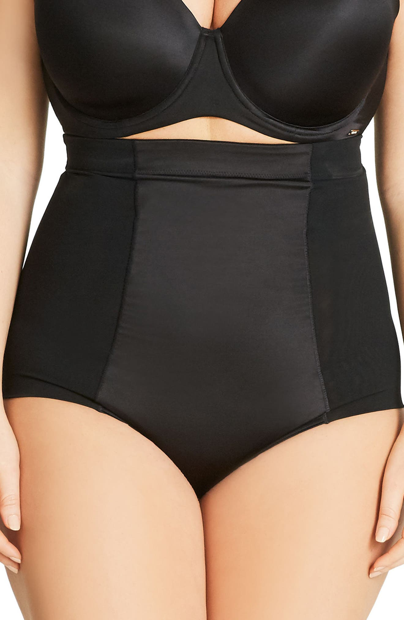 Alternate Image 1 Selected - City Chic Smooth & Chic Control Briefs (Plus Size)