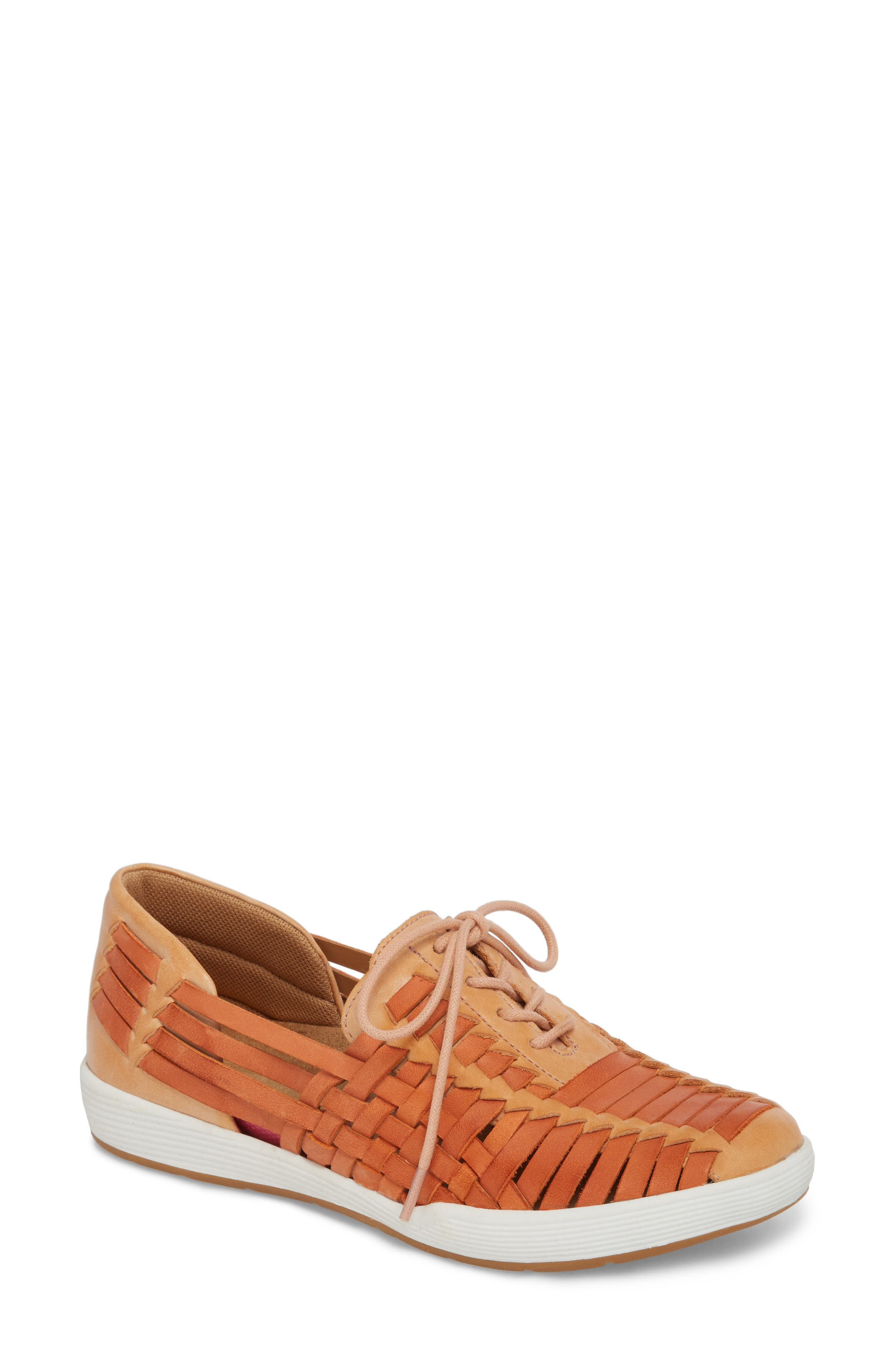 Layla Huarache Slip-On,                         Main,                         color, Washed Rose Leather