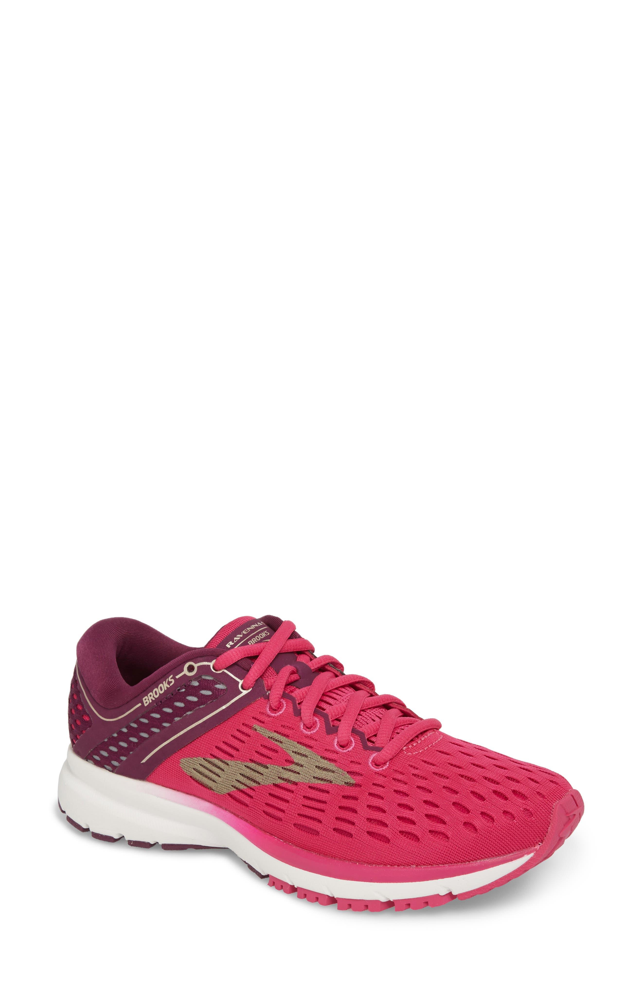 Ravenna 9 Running Shoe,                         Main,                         color, Pink/ Plum/ Champagne