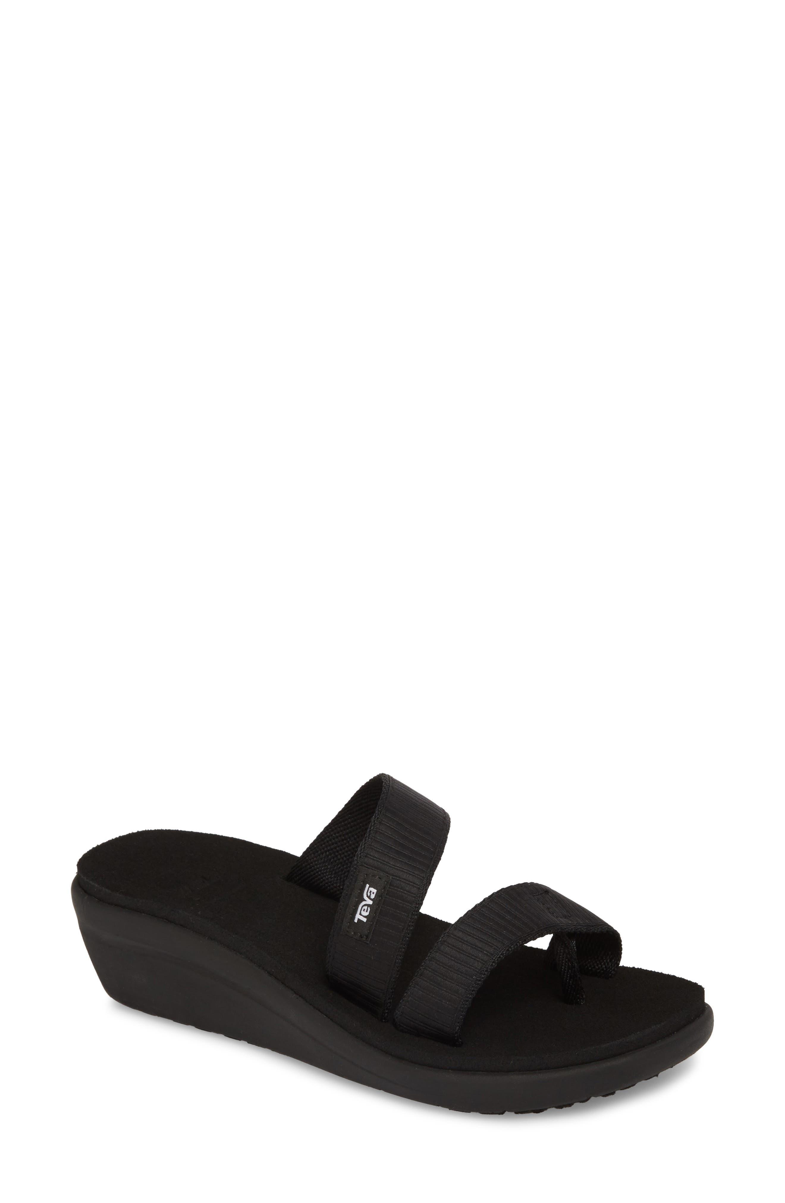 Voya Loma Wedge Sandal,                         Main,                         color, Livy Black