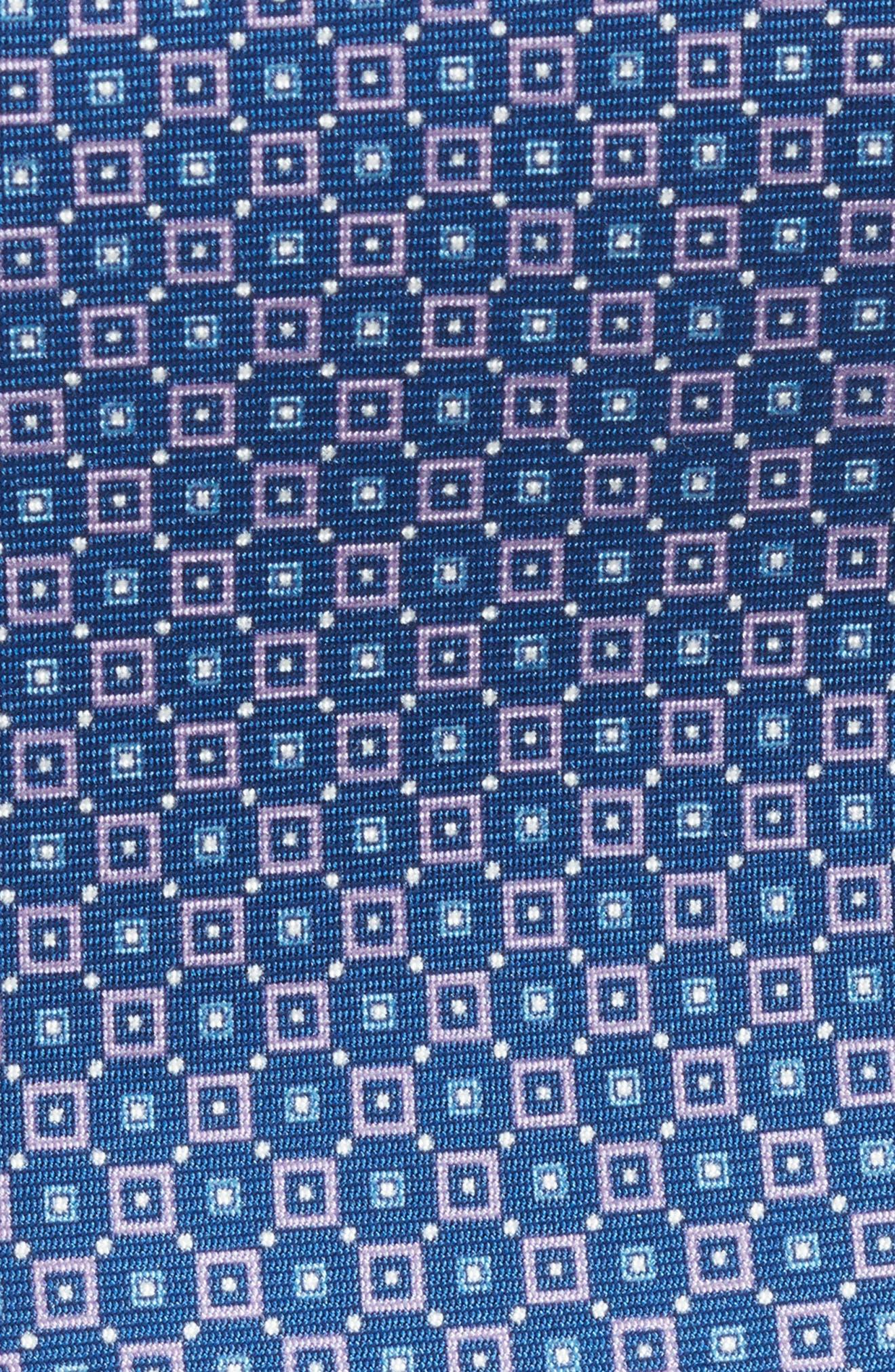 Geometric Silk Tie,                             Alternate thumbnail 2, color,                             Lilac