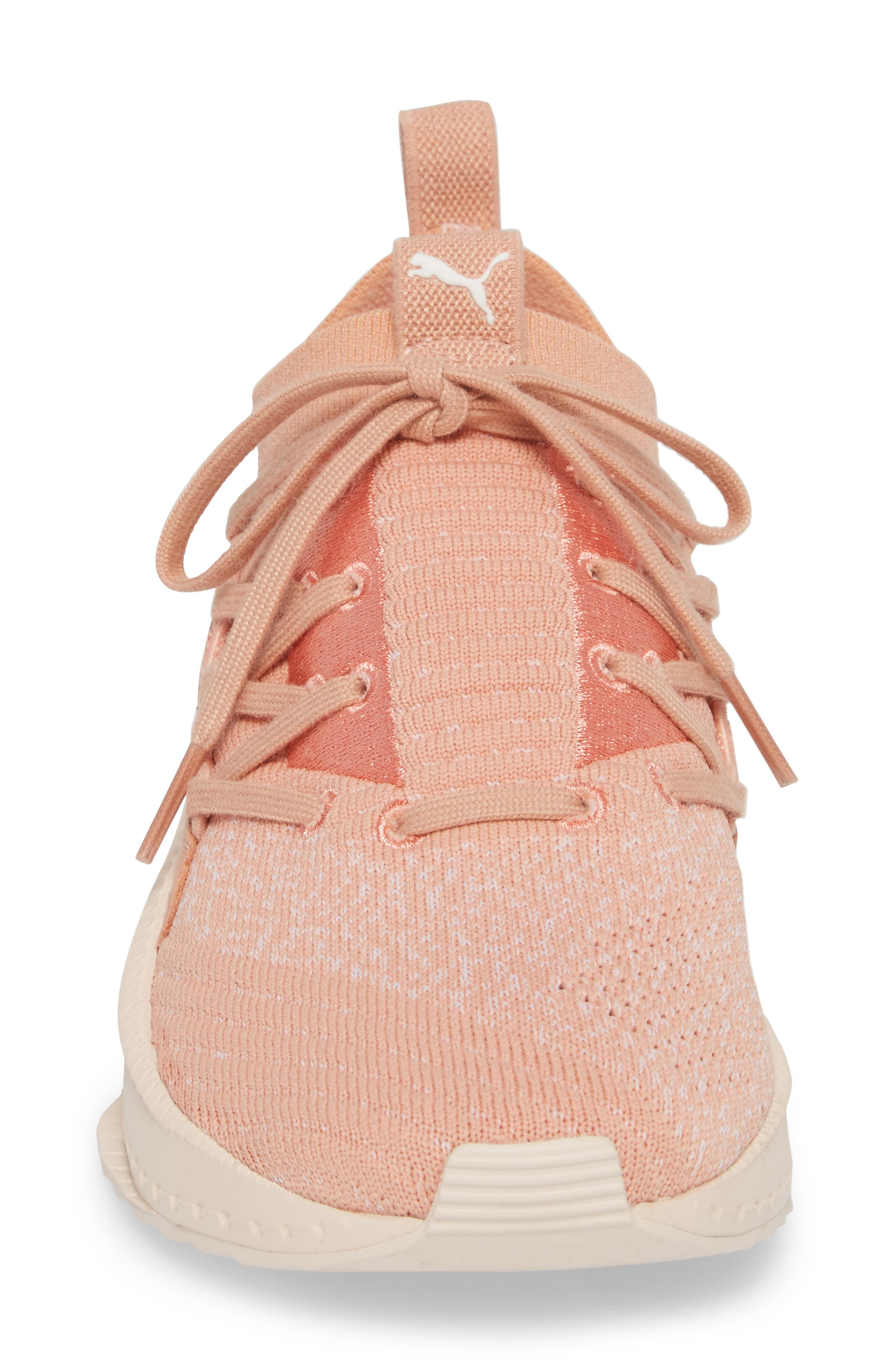 Tsugi Jun Knit Sneaker,                             Alternate thumbnail 4, color,                             Peach Beige/ Puma White/ Pearl