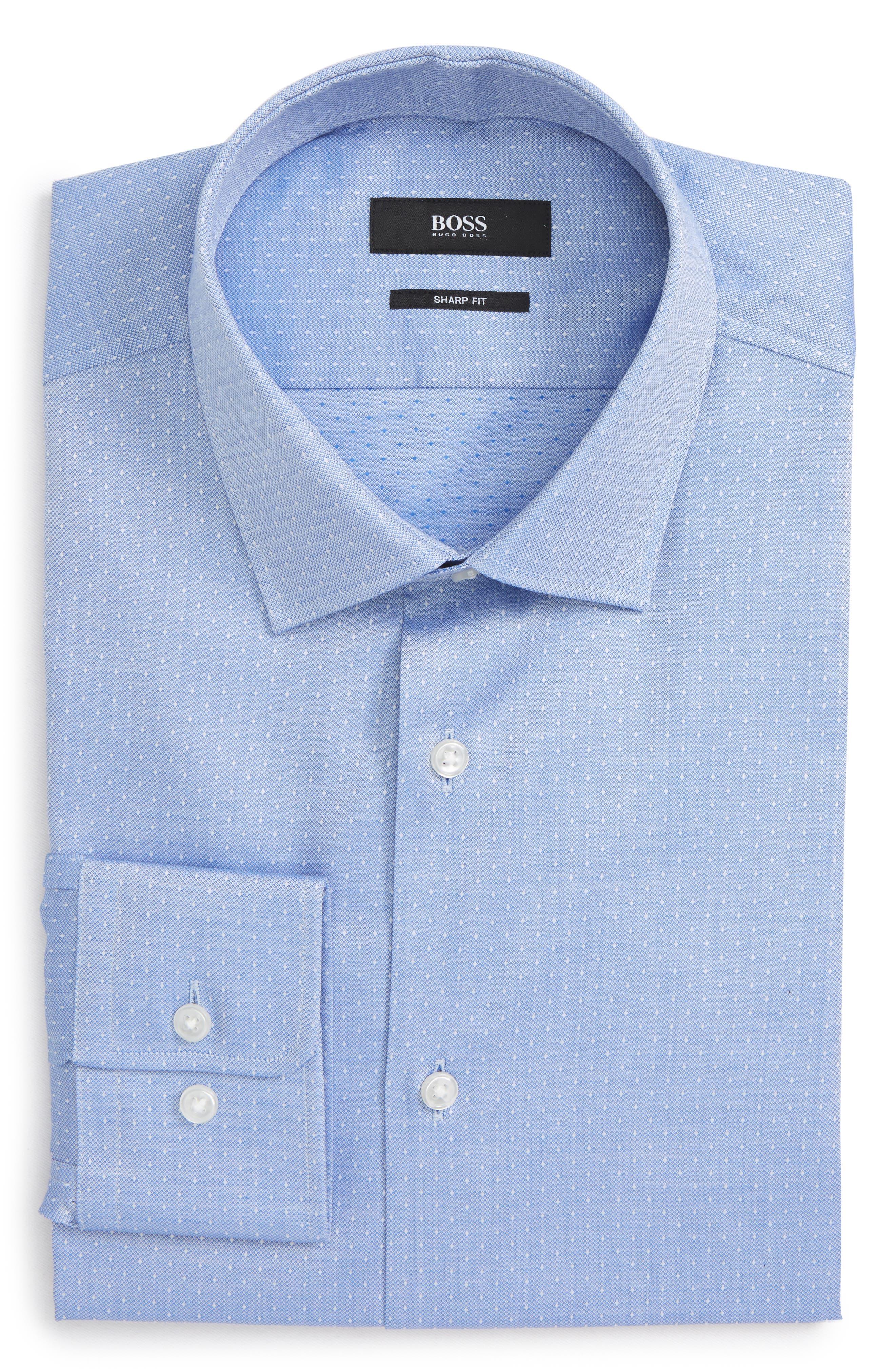 Mark Sharp Fit Dress Shirt,                             Main thumbnail 1, color,                             Blue