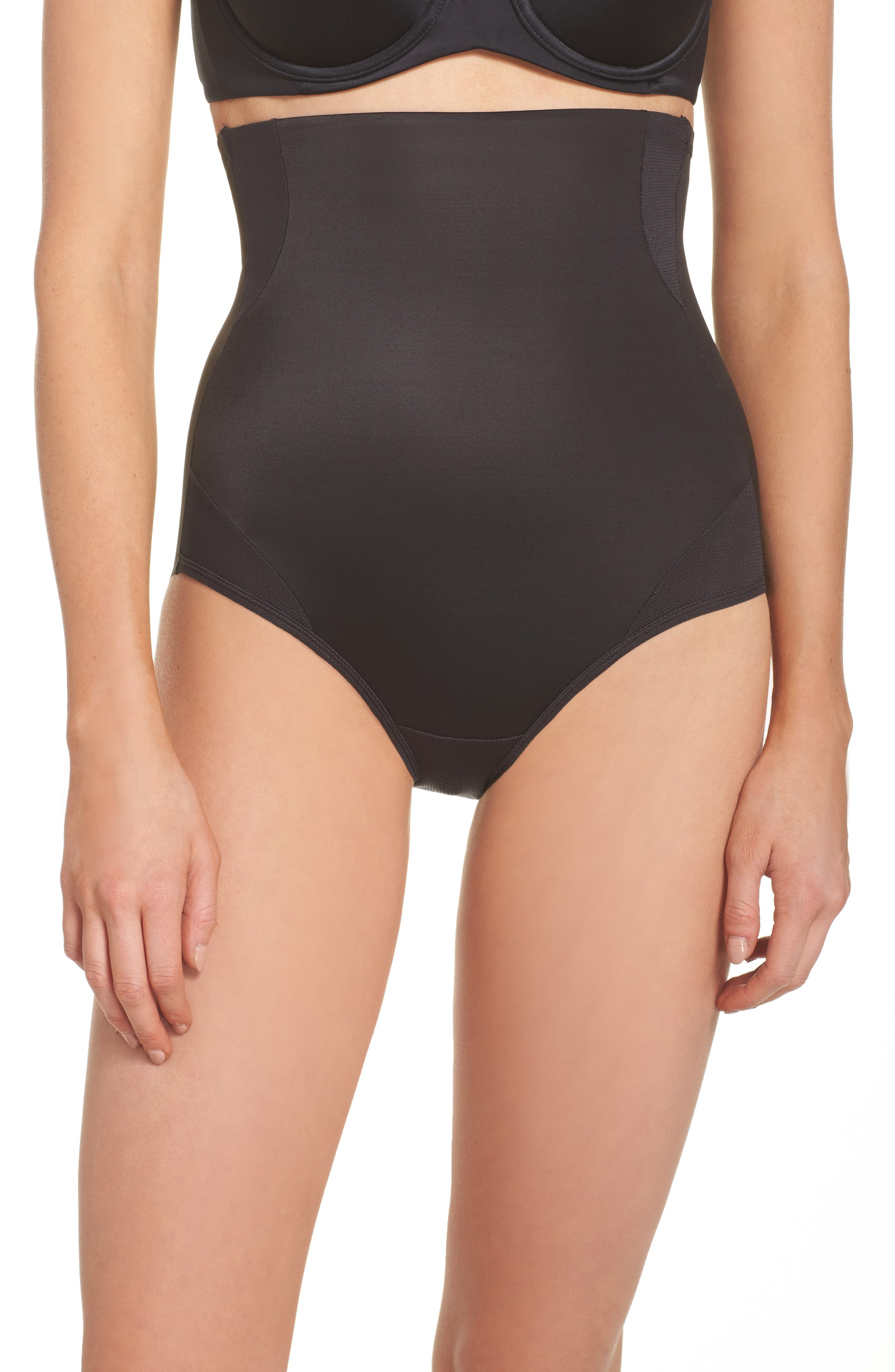 Cooling High Waist Shaping Briefs,                         Main,                         color, Black