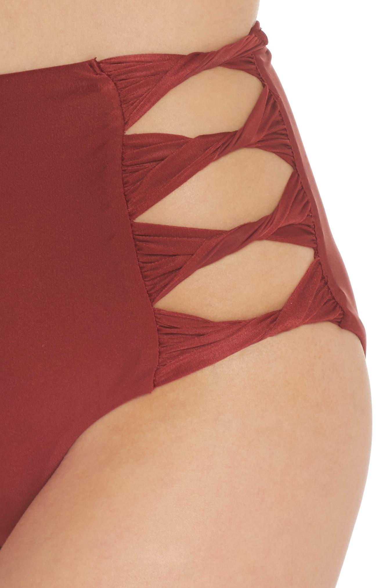 Alternate Image 4  - BCA Love Letters High Waist Bikini Bottoms