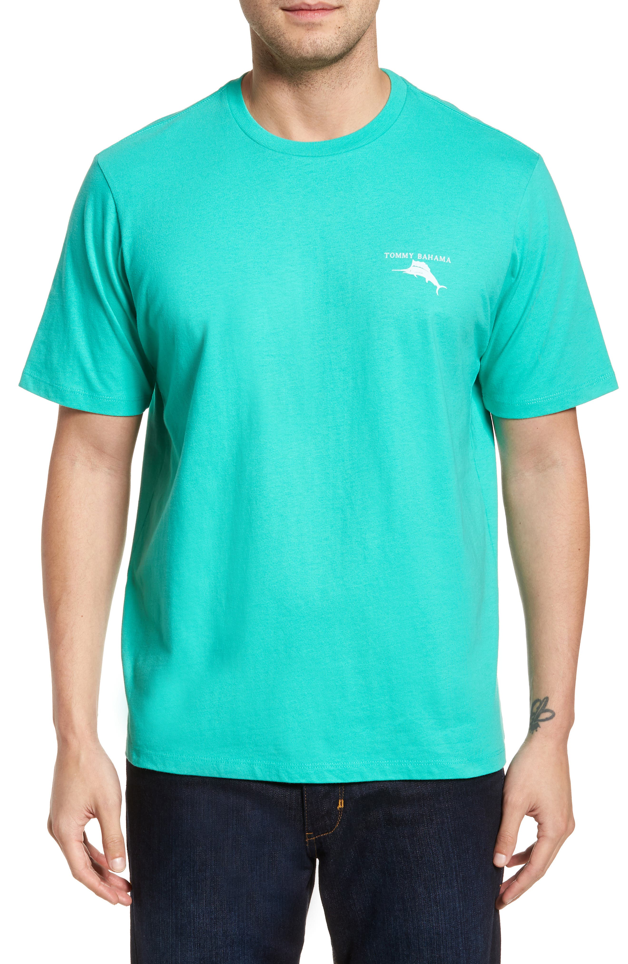 Keys to Happiness T-Shirt,                             Main thumbnail 1, color,                             Cave Green