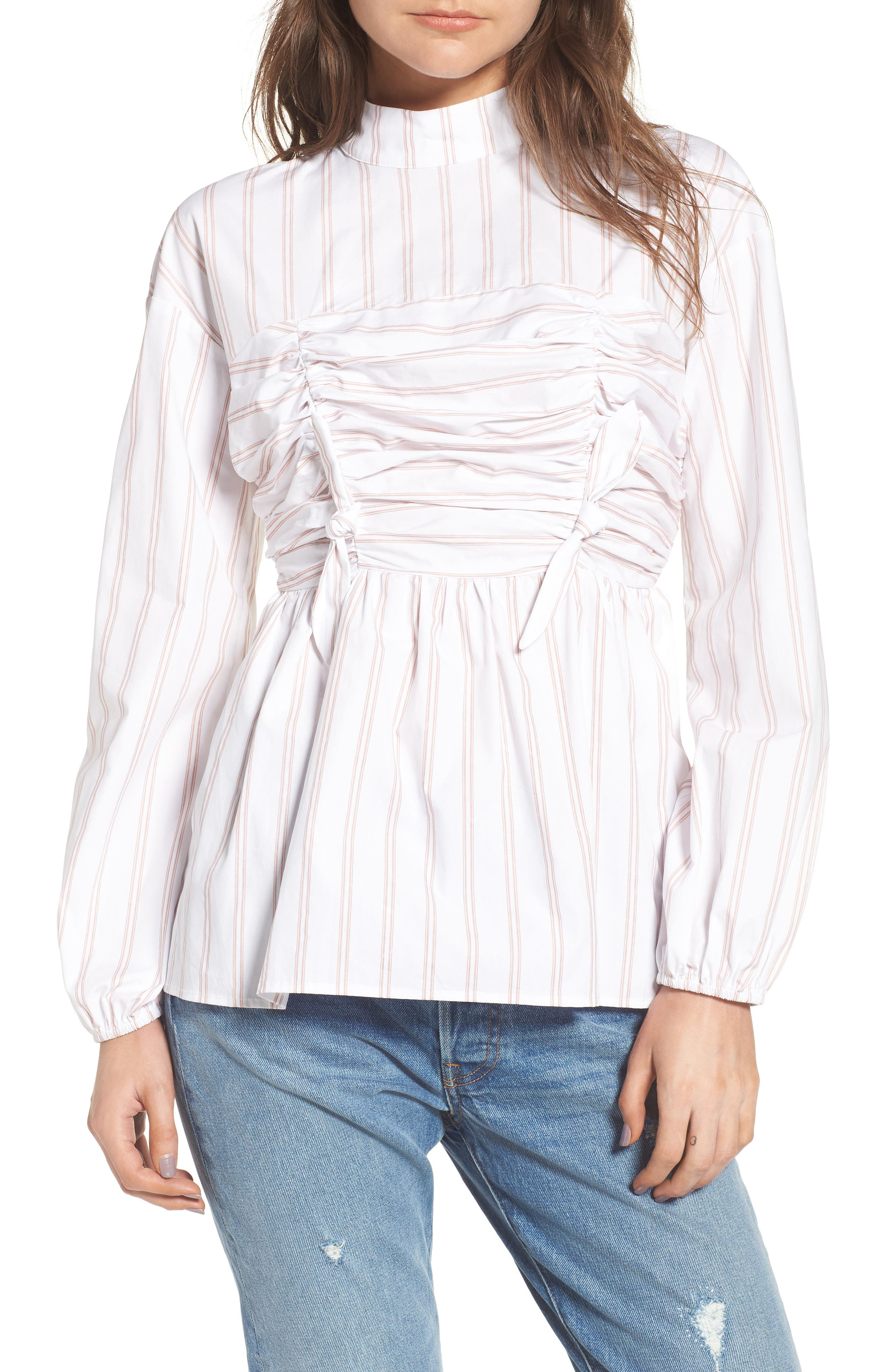 LOST INK Tied Blouse