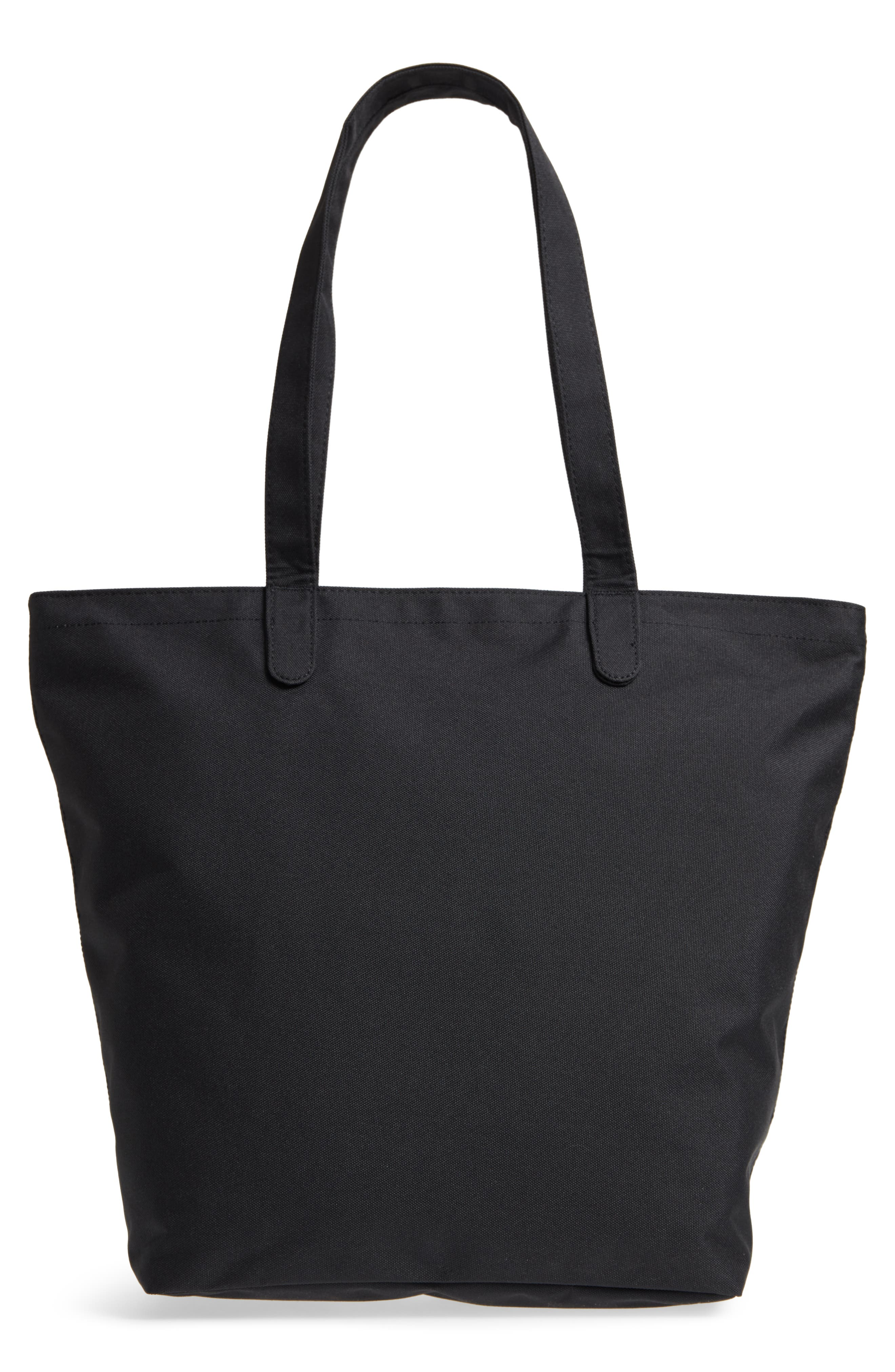 Mica Canvas Tote,                             Alternate thumbnail 3, color,                             Black