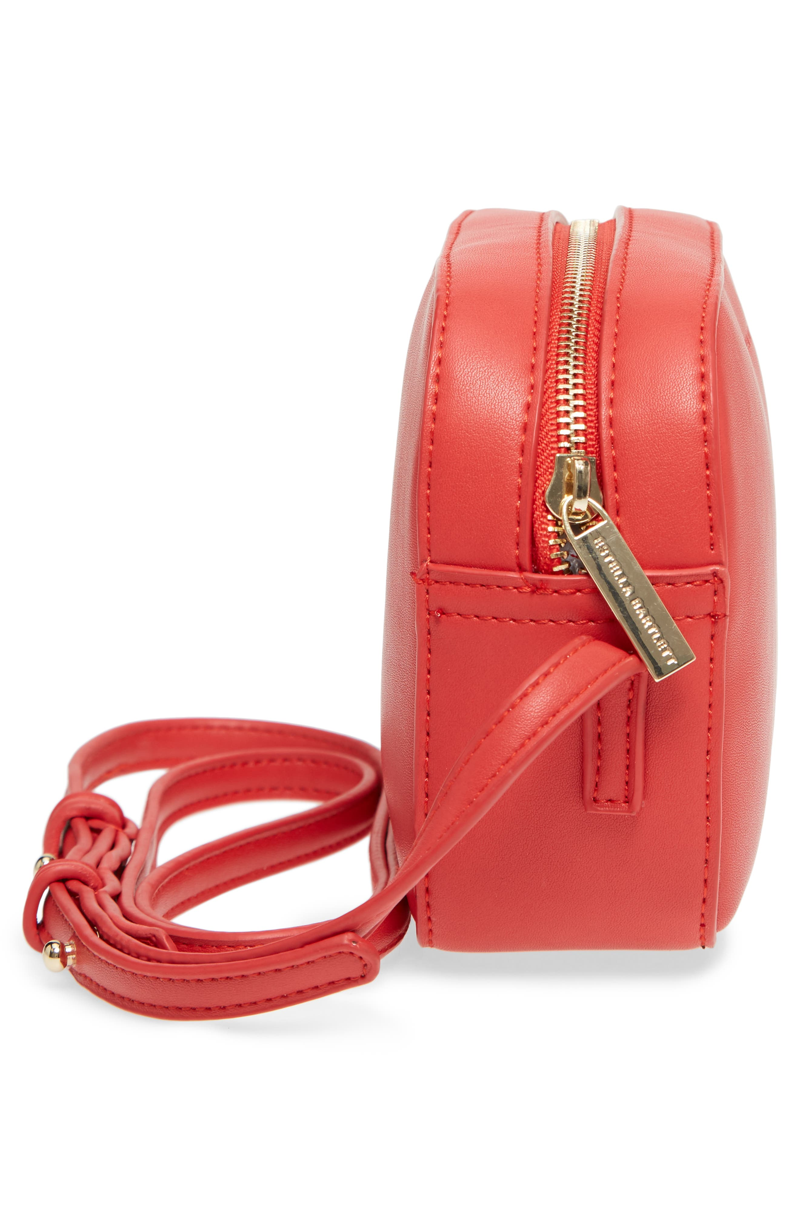 Faux Leather Box Bag,                             Alternate thumbnail 5, color,                             Red