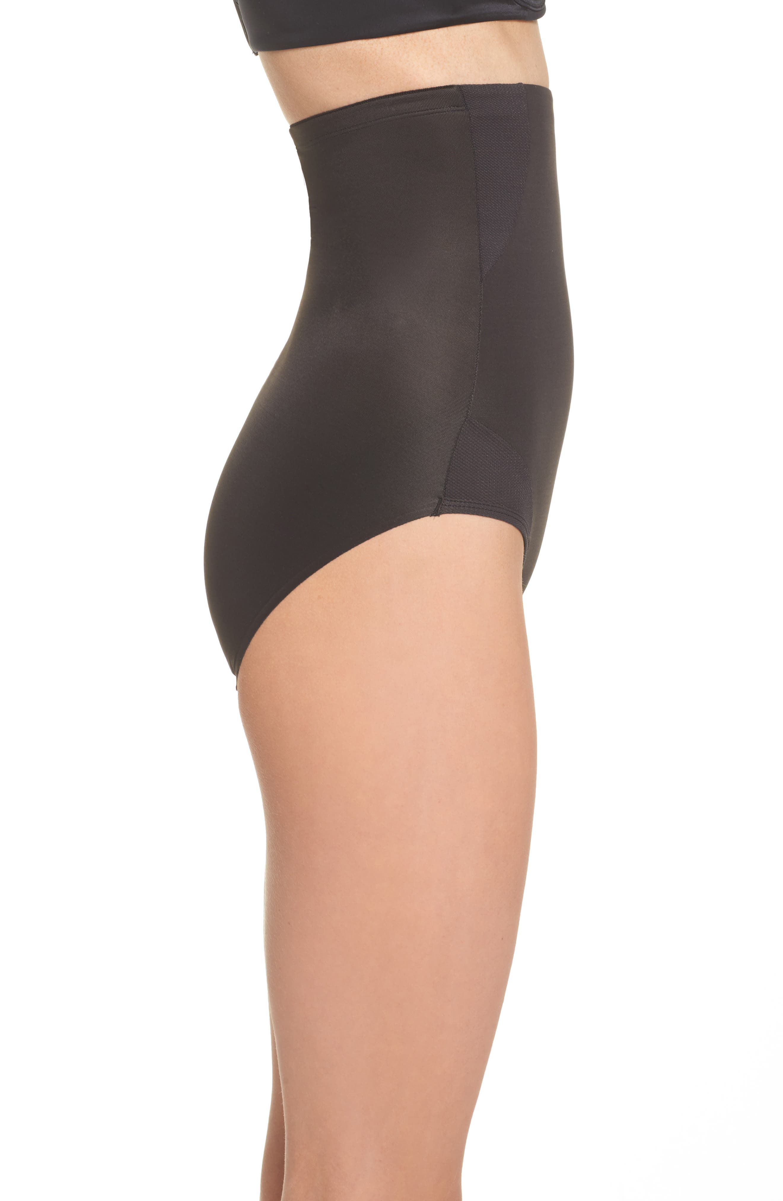 Cooling High Waist Shaping Briefs,                             Alternate thumbnail 3, color,                             Black