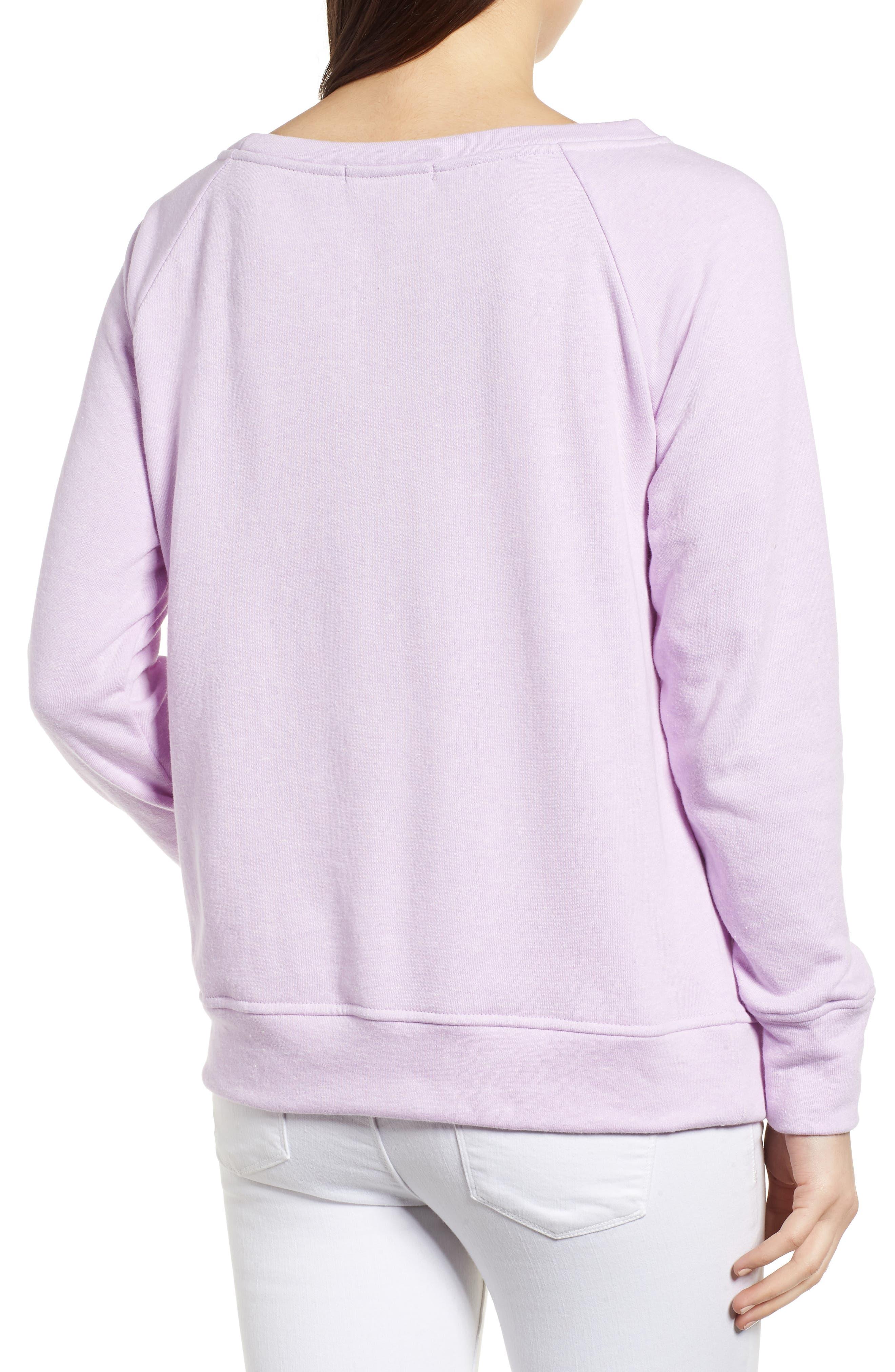 Slouch Sweatshirt,                             Alternate thumbnail 2, color,                             Pop Lavender