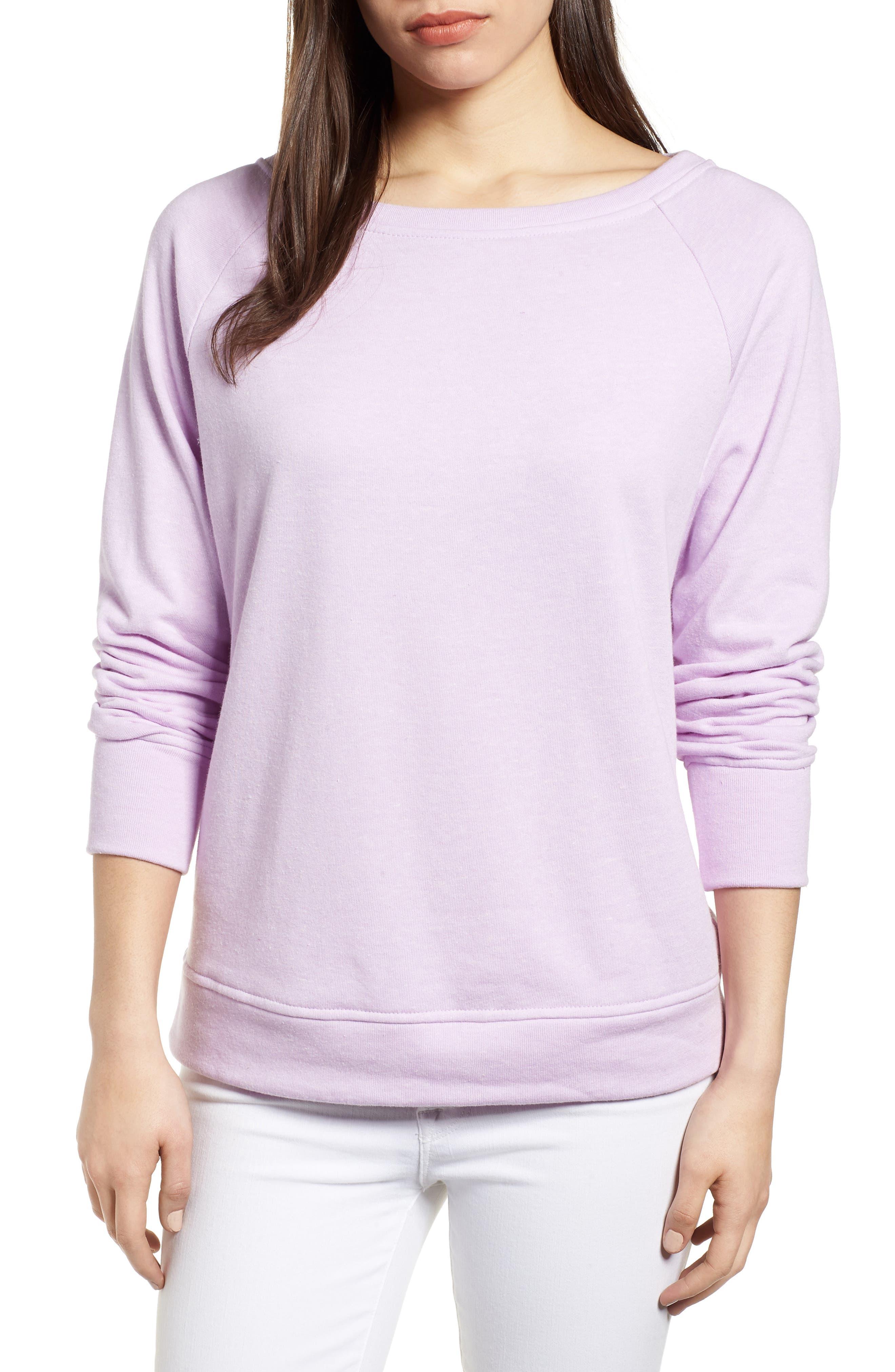 Slouch Sweatshirt,                             Main thumbnail 1, color,                             Pop Lavender