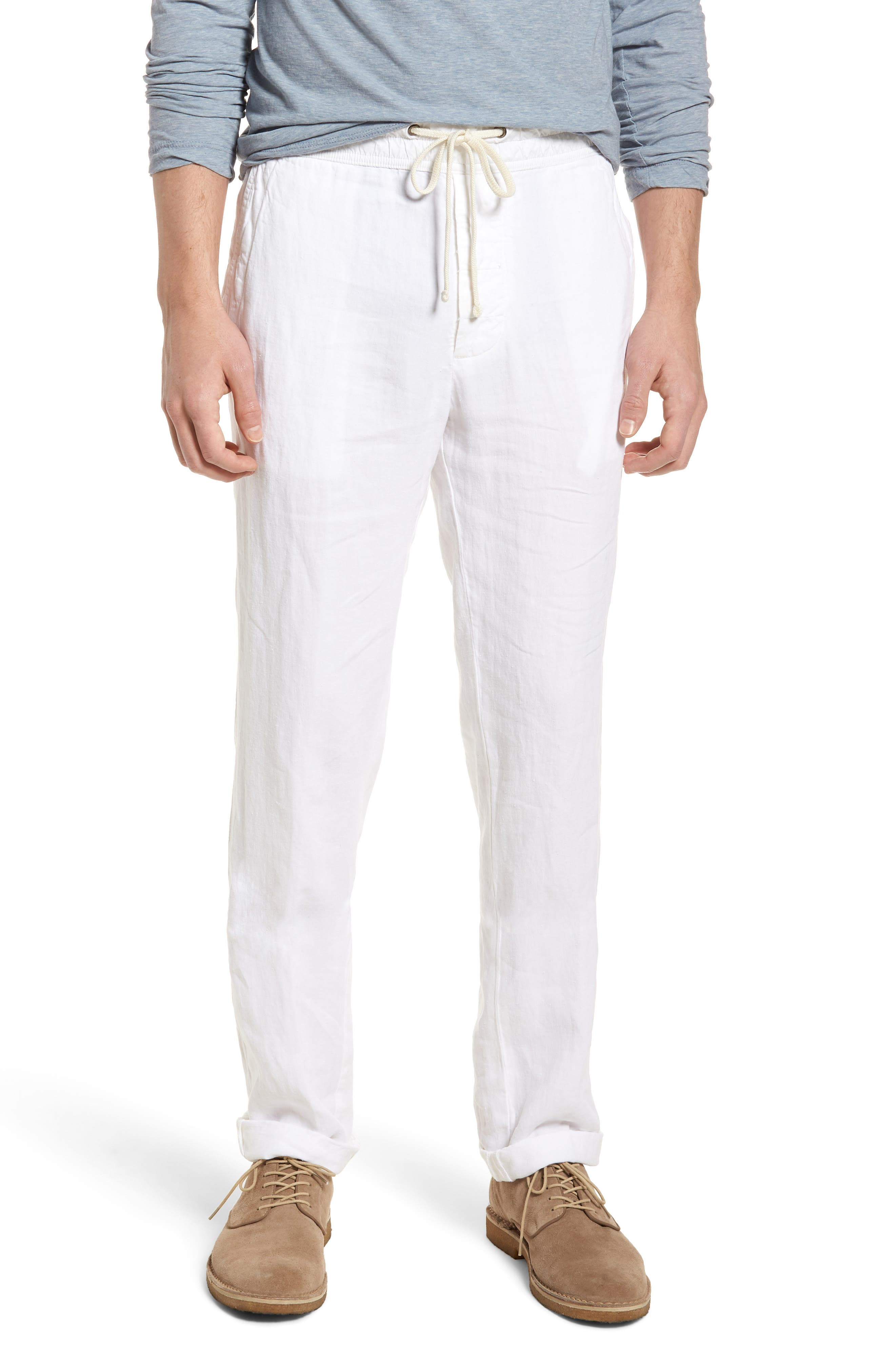 Slim Fit Linen Utility Pants,                         Main,                         color, White