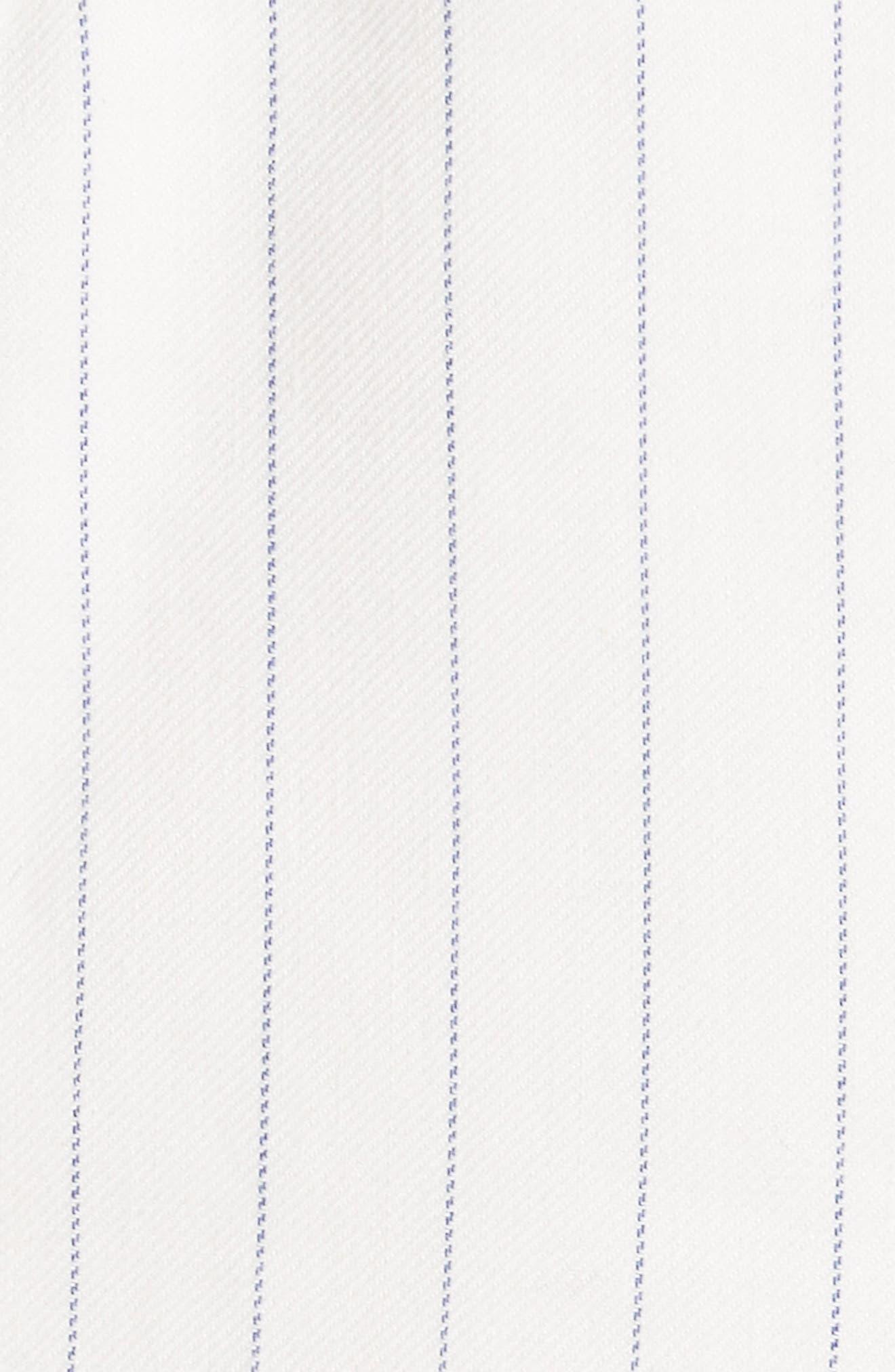 Apollo Pinstripe Jacket,                             Alternate thumbnail 5, color,                             Off White/ Blue Stripe