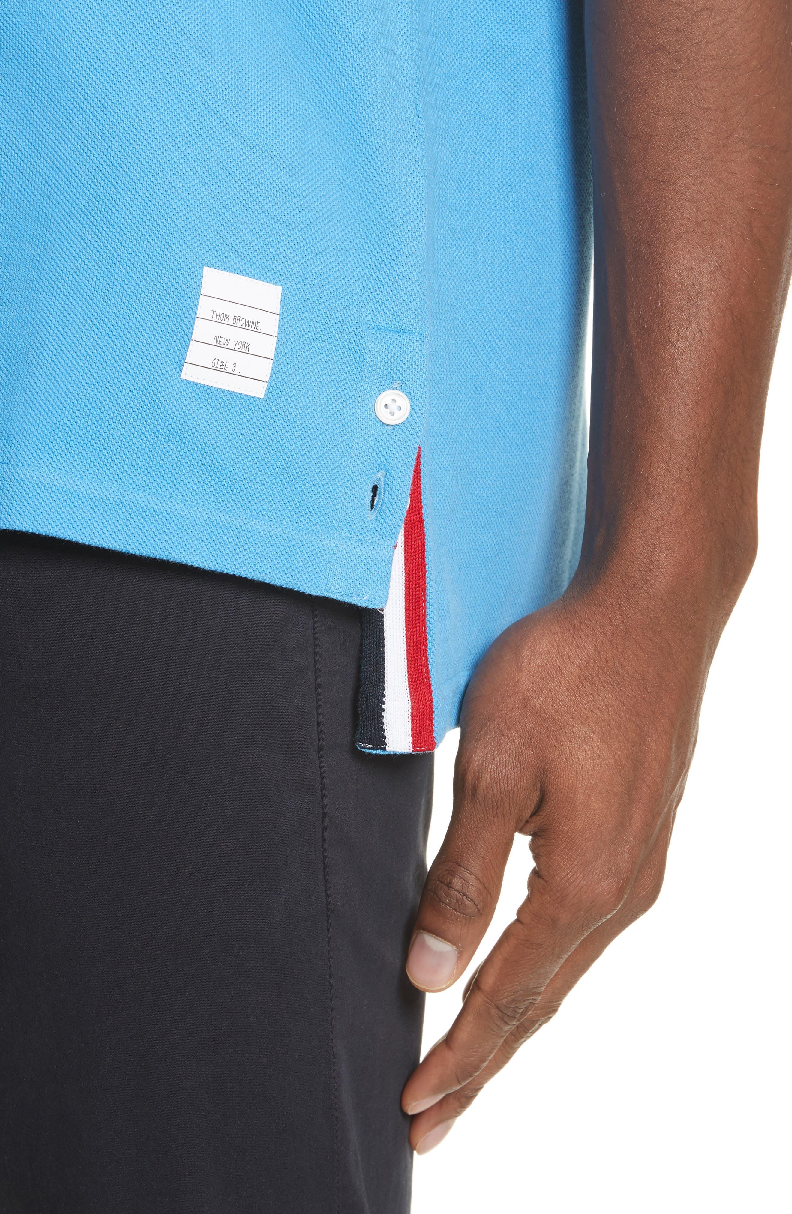 Stripe Crewneck T-Shirt,                             Alternate thumbnail 4, color,                             Light Blue