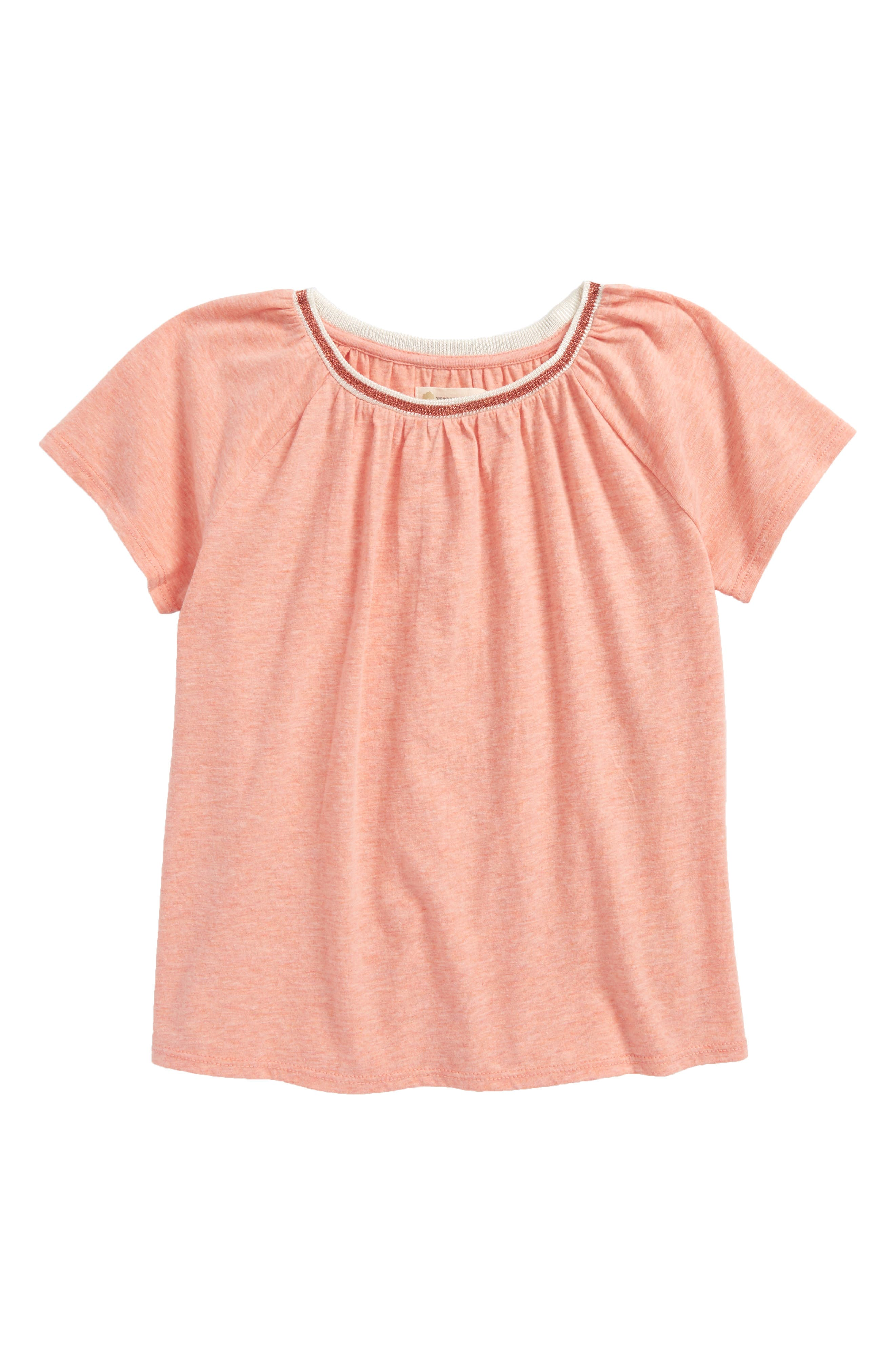 Essential Tee,                         Main,                         color, Coral Pink Heather