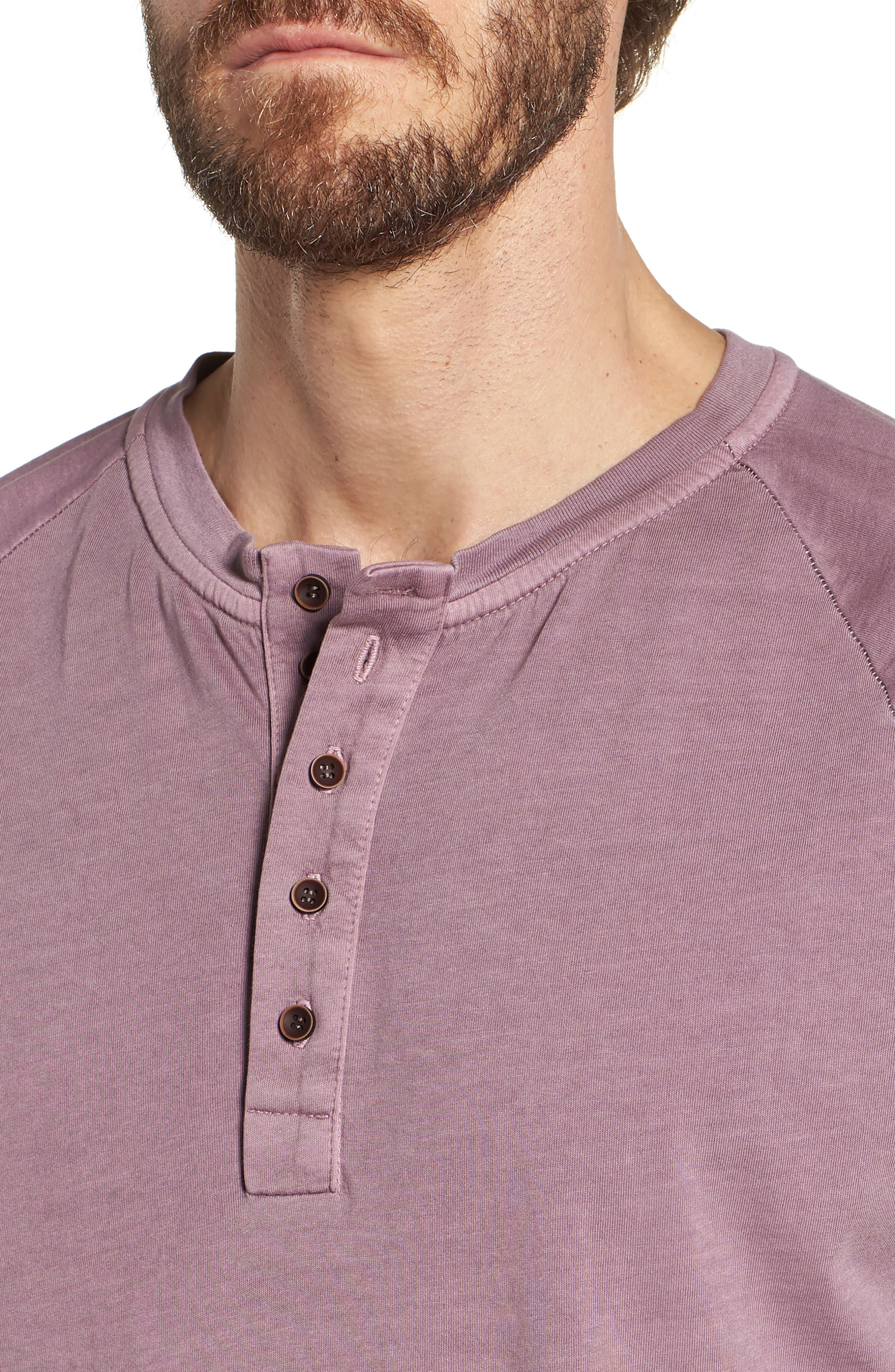 Short Sleeve Henley,                             Alternate thumbnail 4, color,                             Wild Rose