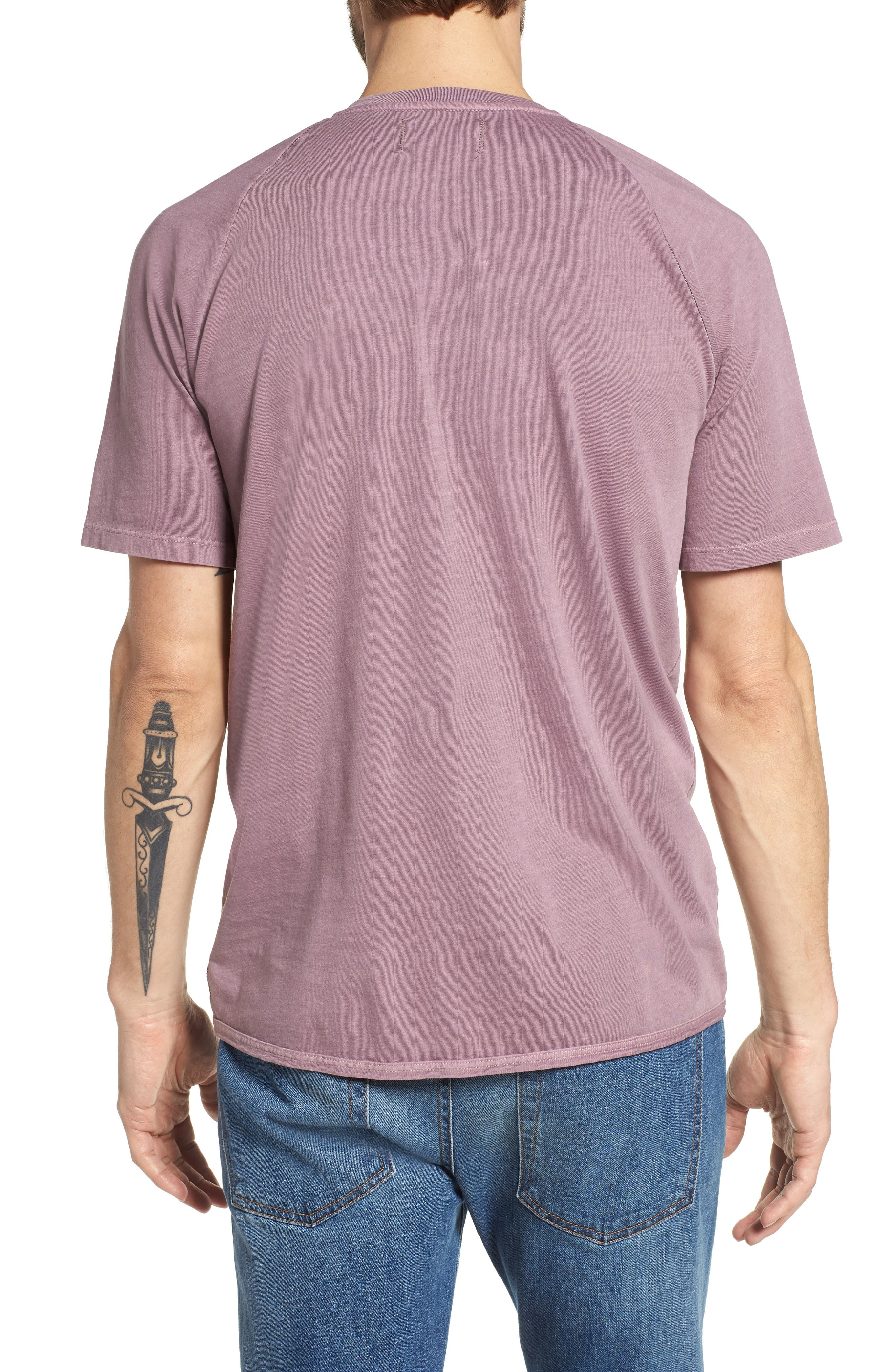 Short Sleeve Henley,                             Alternate thumbnail 2, color,                             Wild Rose