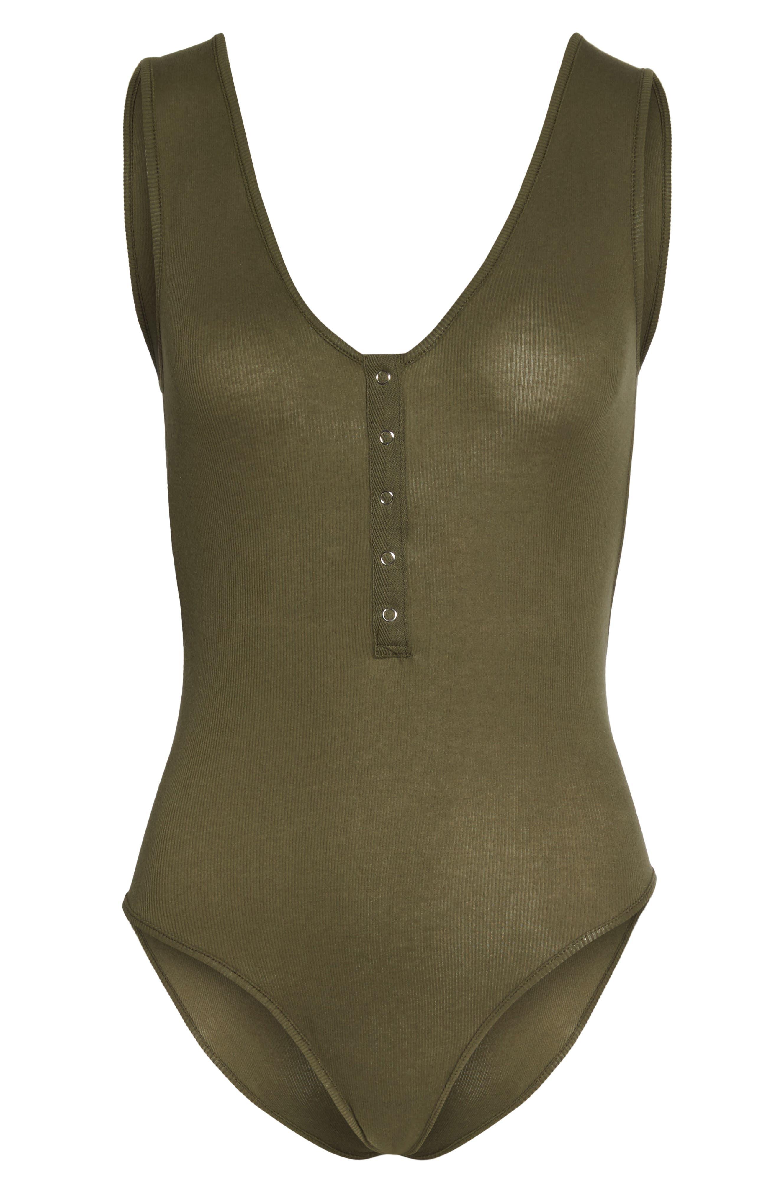Intimately FP Tank Bodysuit,                             Alternate thumbnail 5, color,                             Army