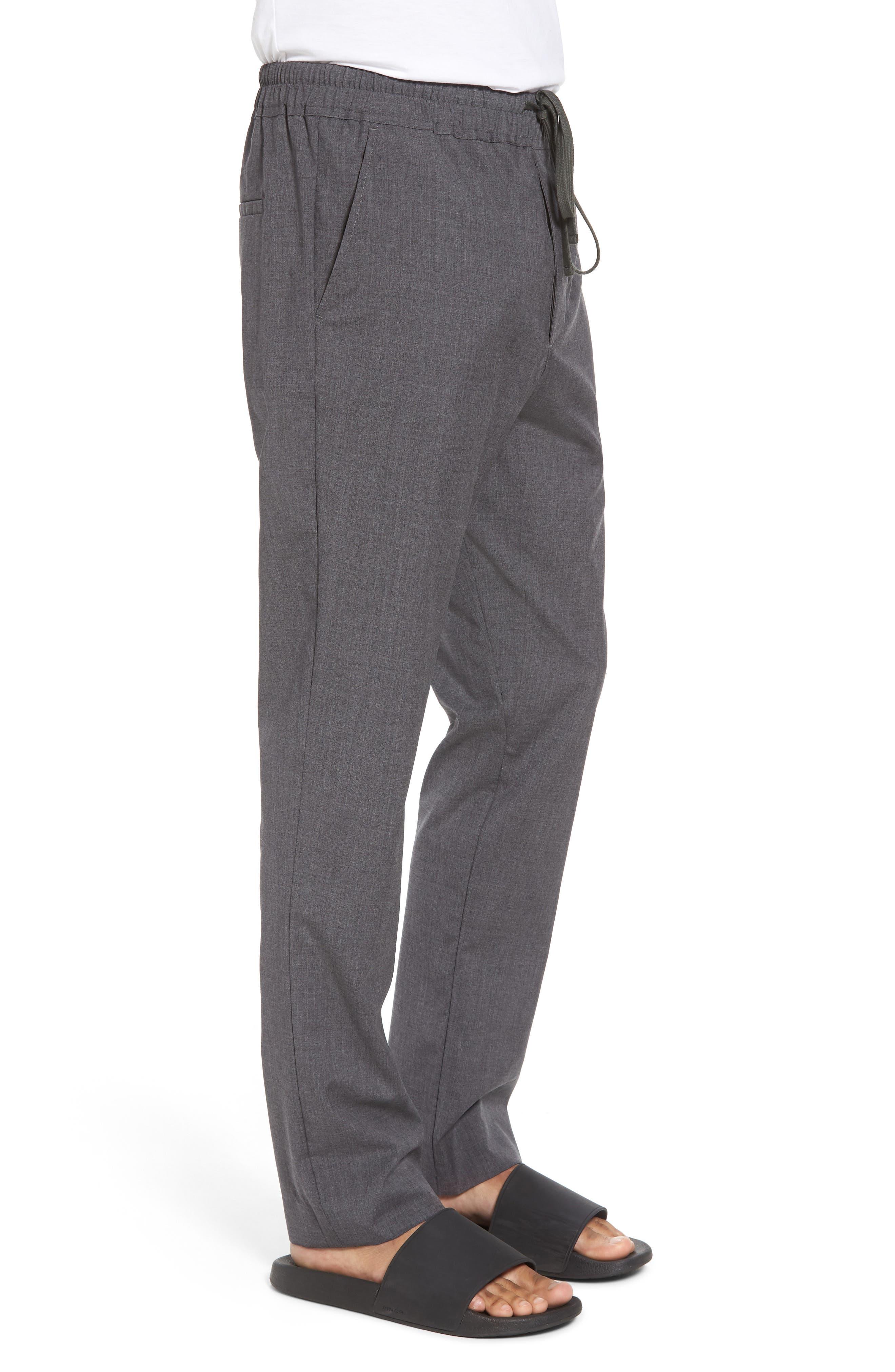 Slim Fit Wool Track Pants,                             Alternate thumbnail 3, color,                             Light Heather Grey