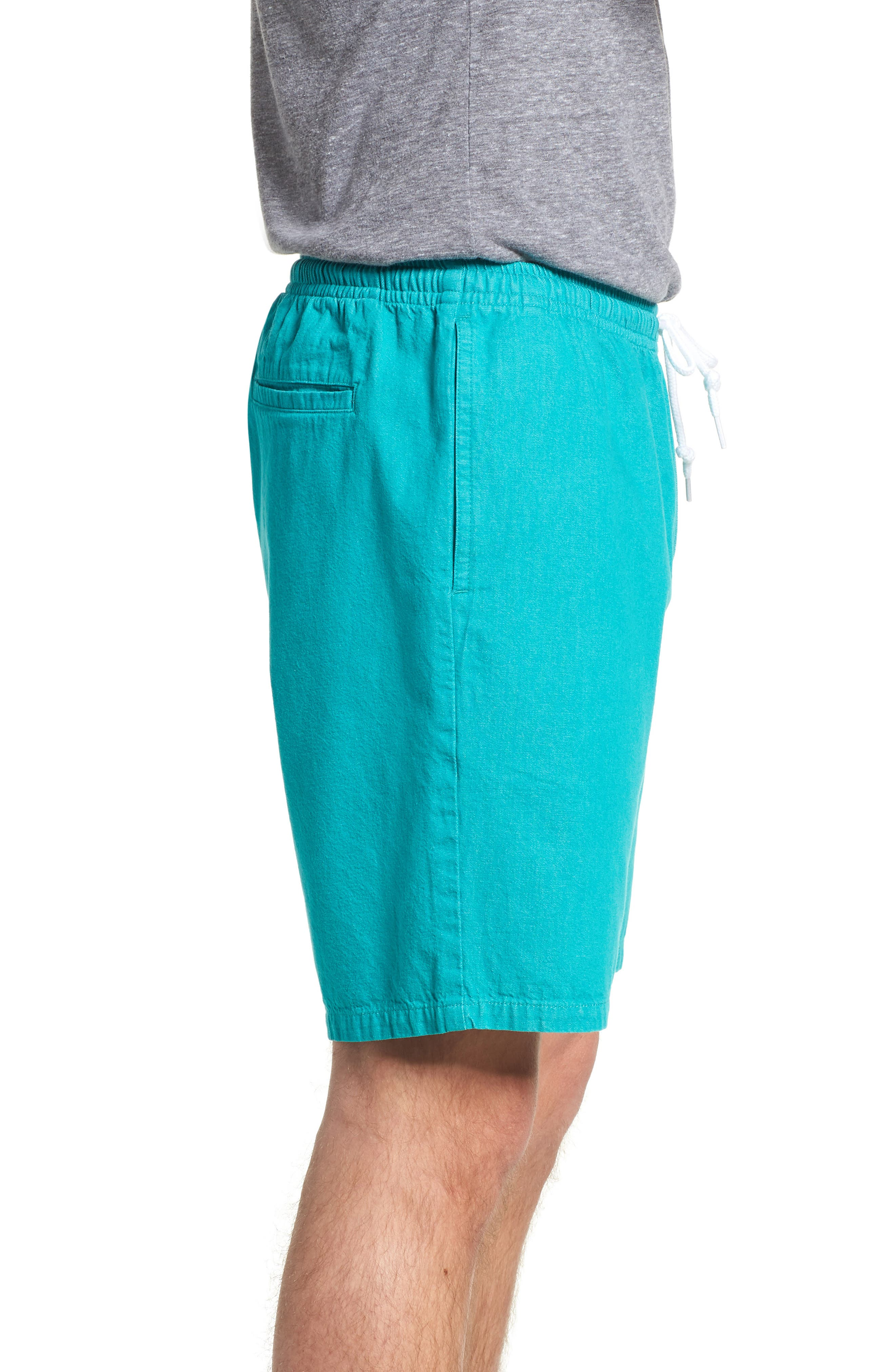 Keble Drawstring Shorts,                             Alternate thumbnail 3, color,                             Teal