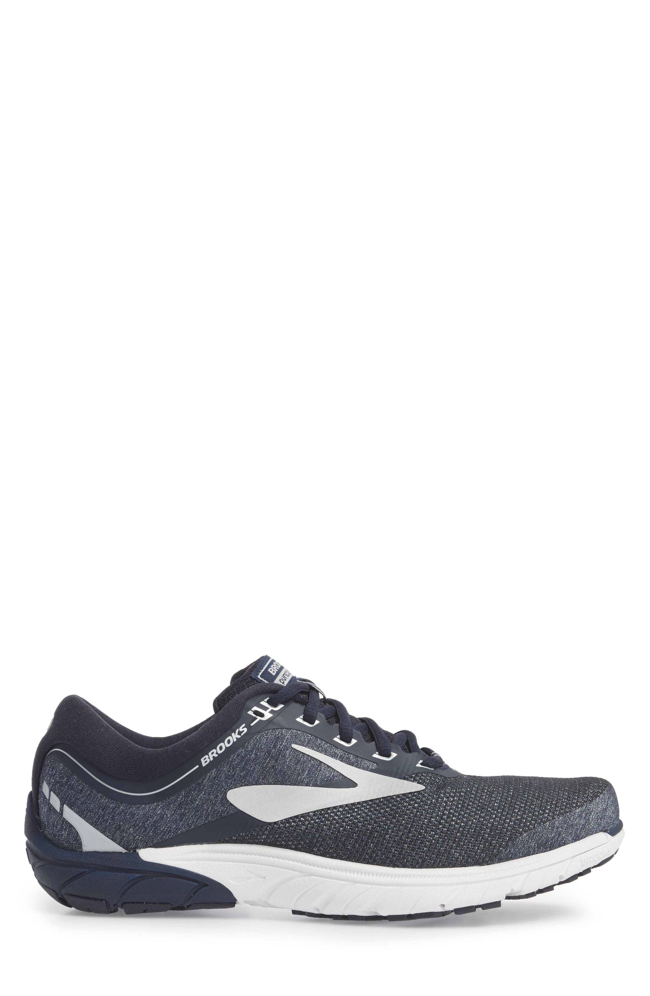 PureCadence 7 Road Running Shoe,                             Alternate thumbnail 3, color,                             Peacoat/ Silver/ White