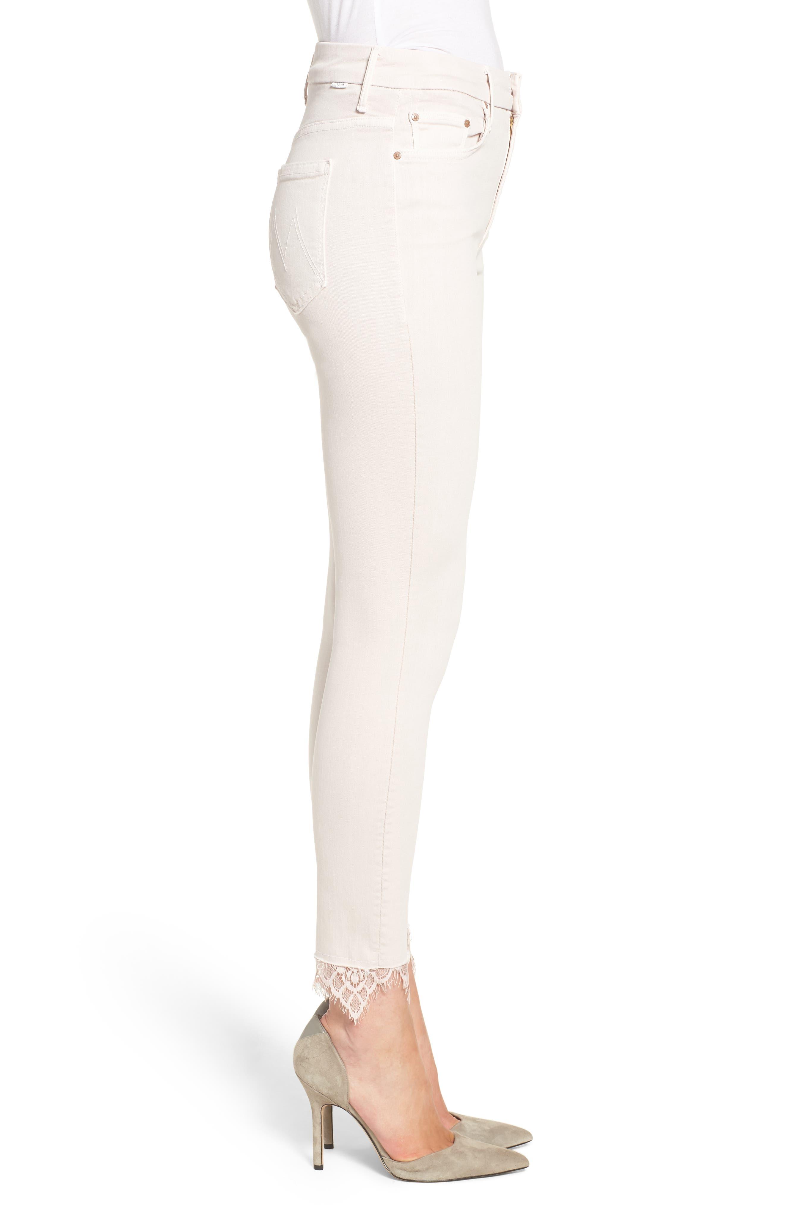 The Looker Dagger High Waist Ankle Skinny Jeans,                             Alternate thumbnail 3, color,                             Blush