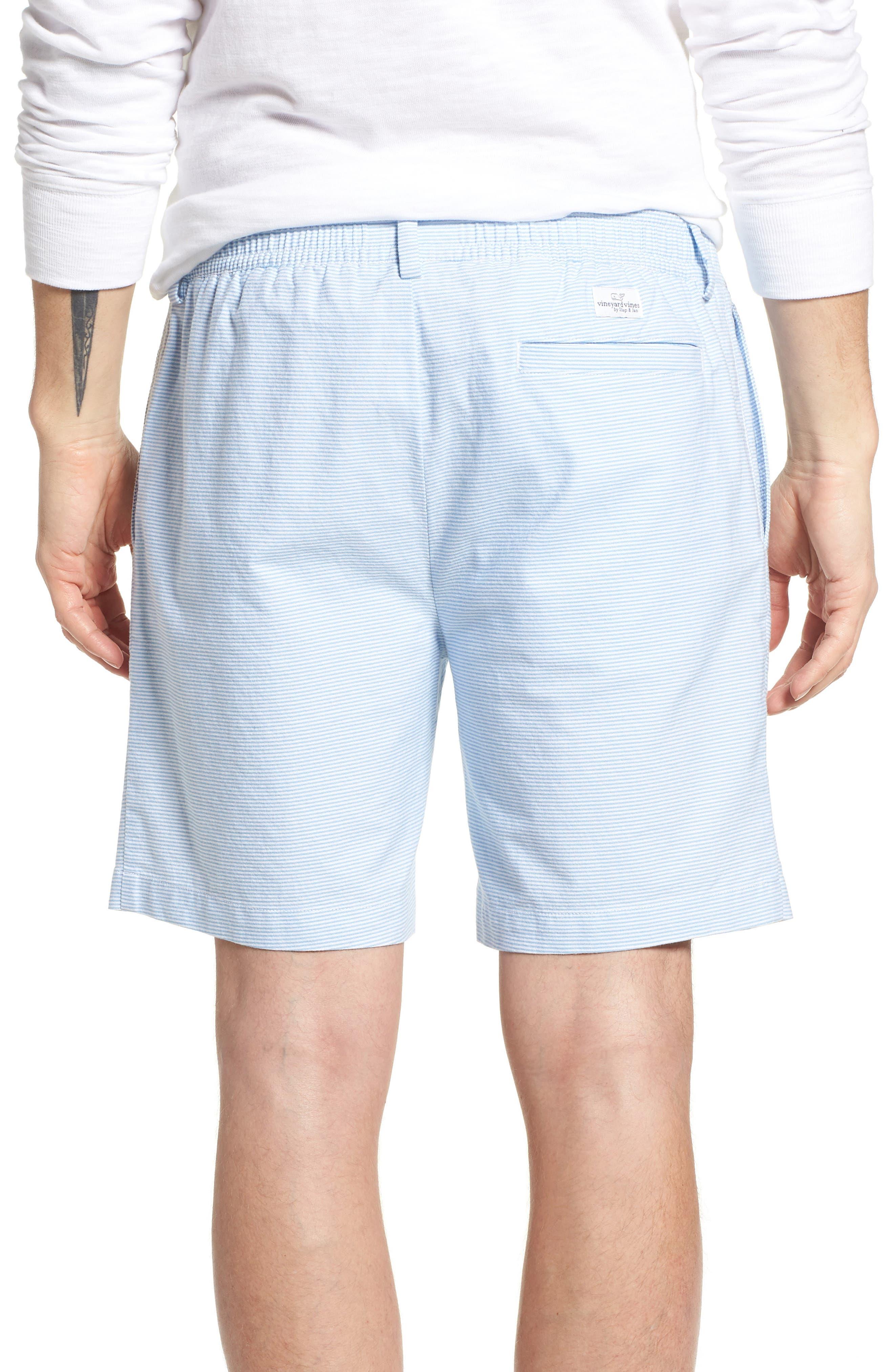 Jetty Stripe Stretch Cotton Shorts,                             Alternate thumbnail 2, color,                             Ocean Breeze
