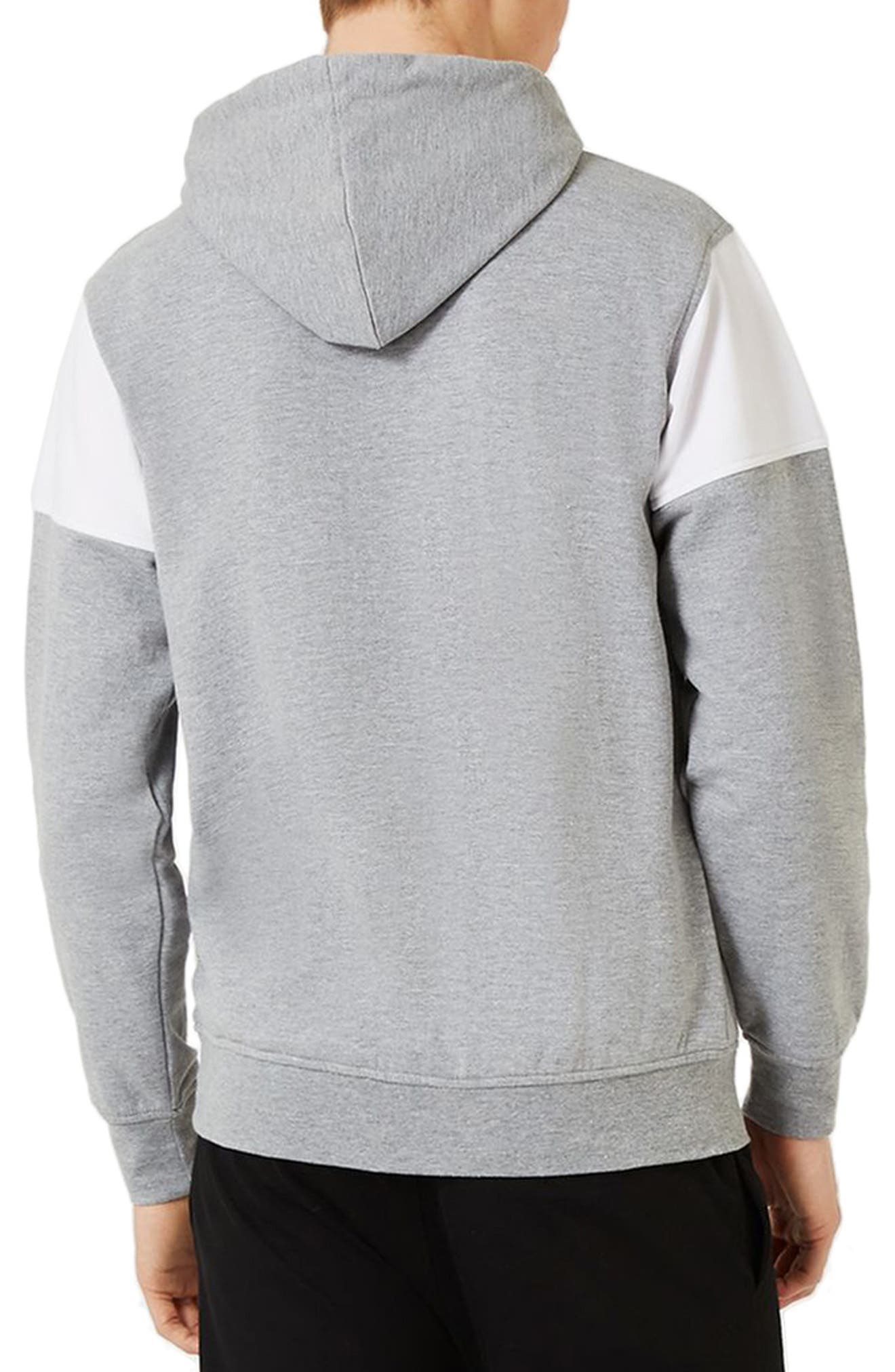 NICCE Slim Fit Colorblock Hoodie,                             Alternate thumbnail 2, color,                             Light Grey Multi