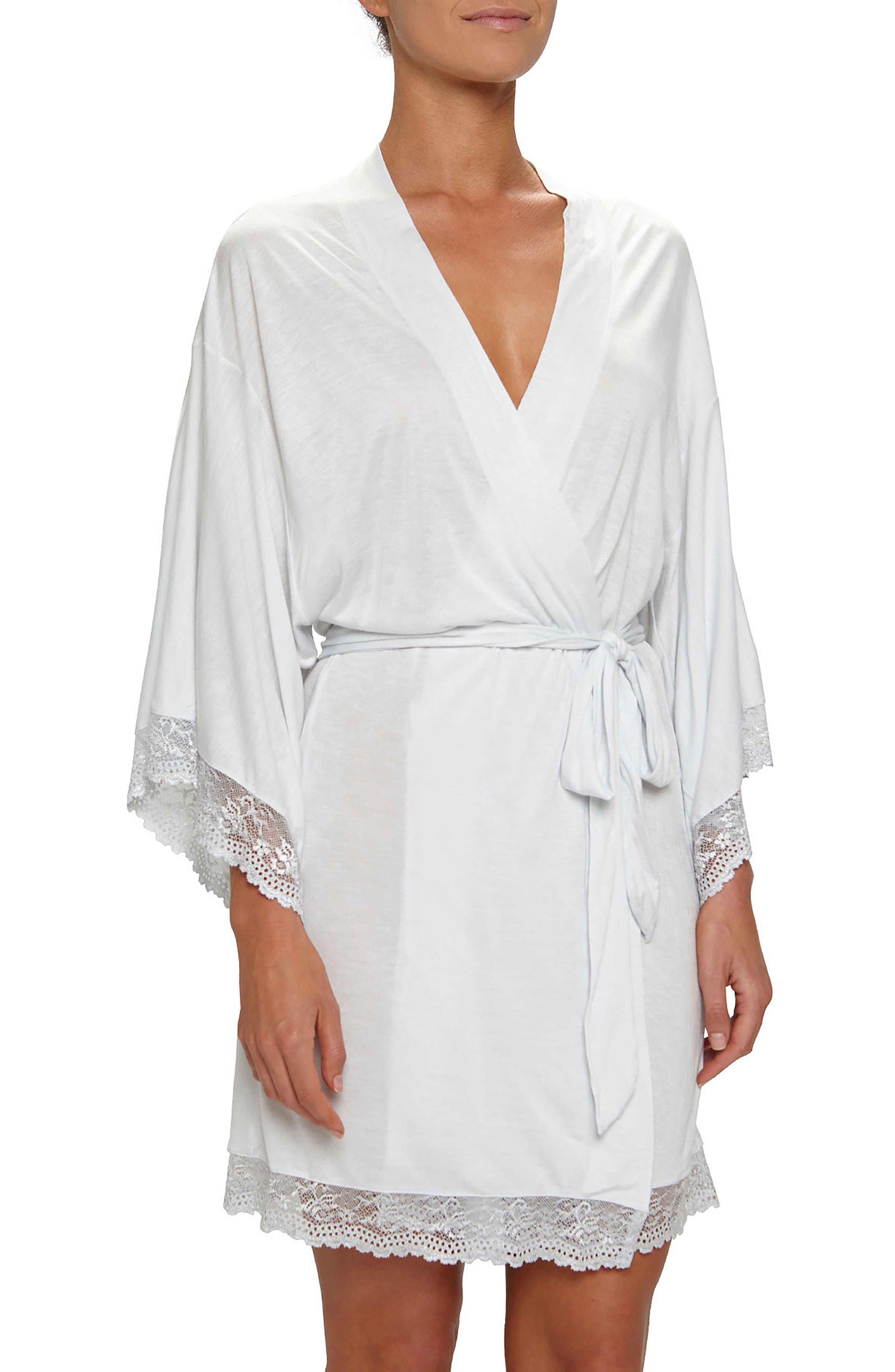 'Colette' Kimono Robe,                             Main thumbnail 1, color,                             Water Blue