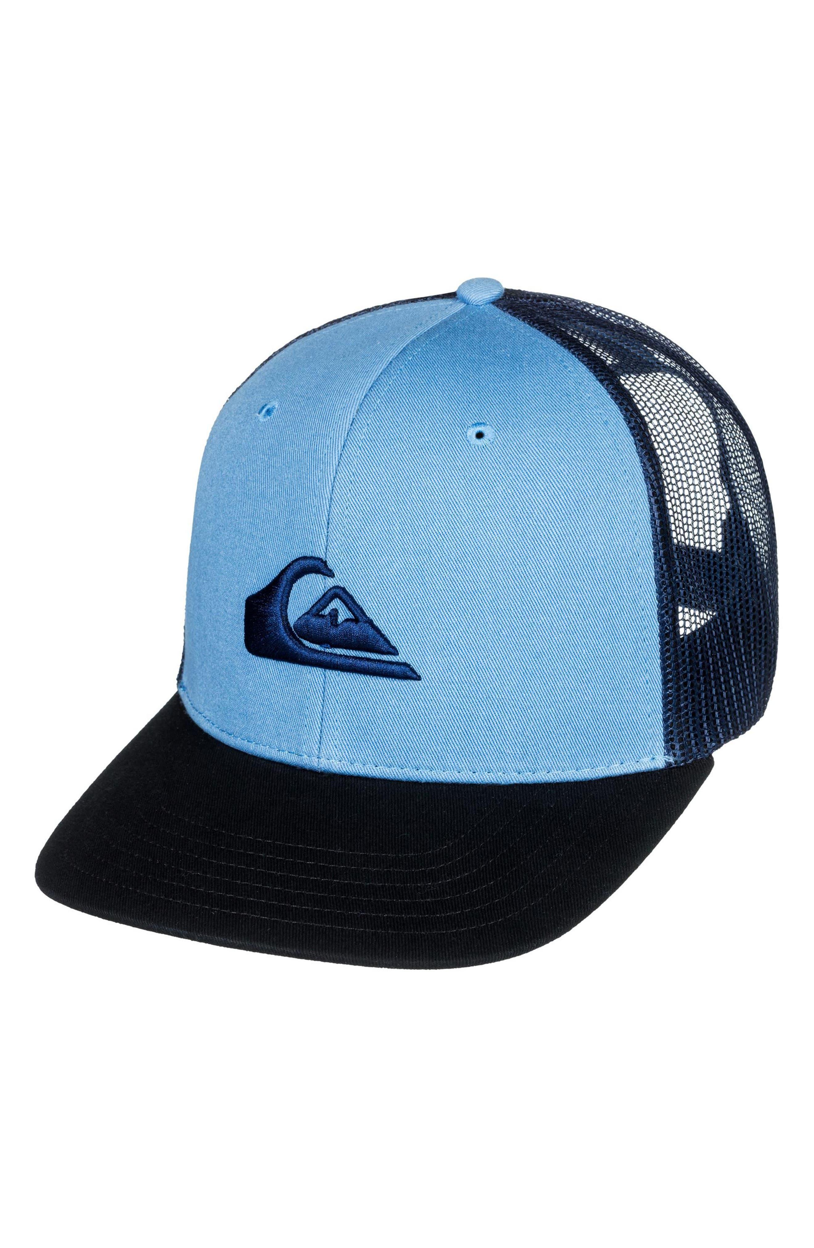 Grounder Trucker Hat,                             Main thumbnail 1, color,                             Dusk Blue