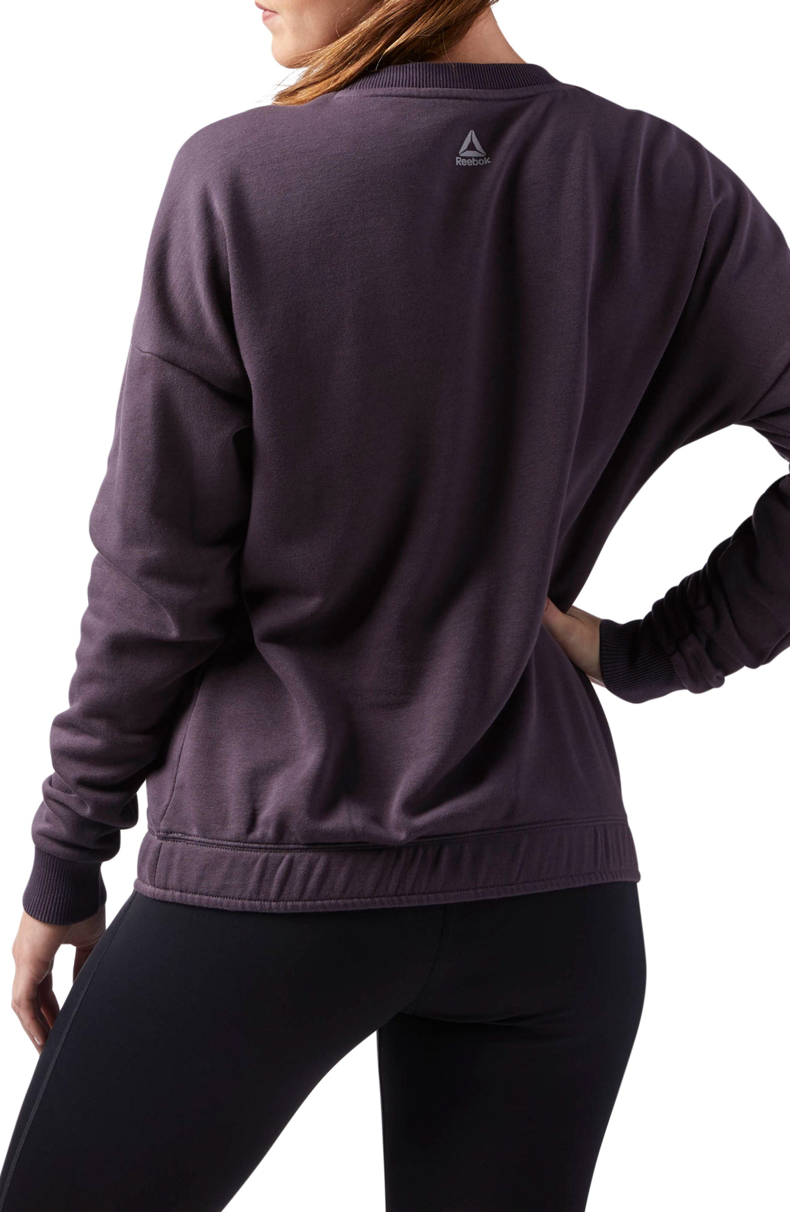 Elements Washed Sweatshirt,                             Alternate thumbnail 2, color,                             Smoky Volcano S18-R